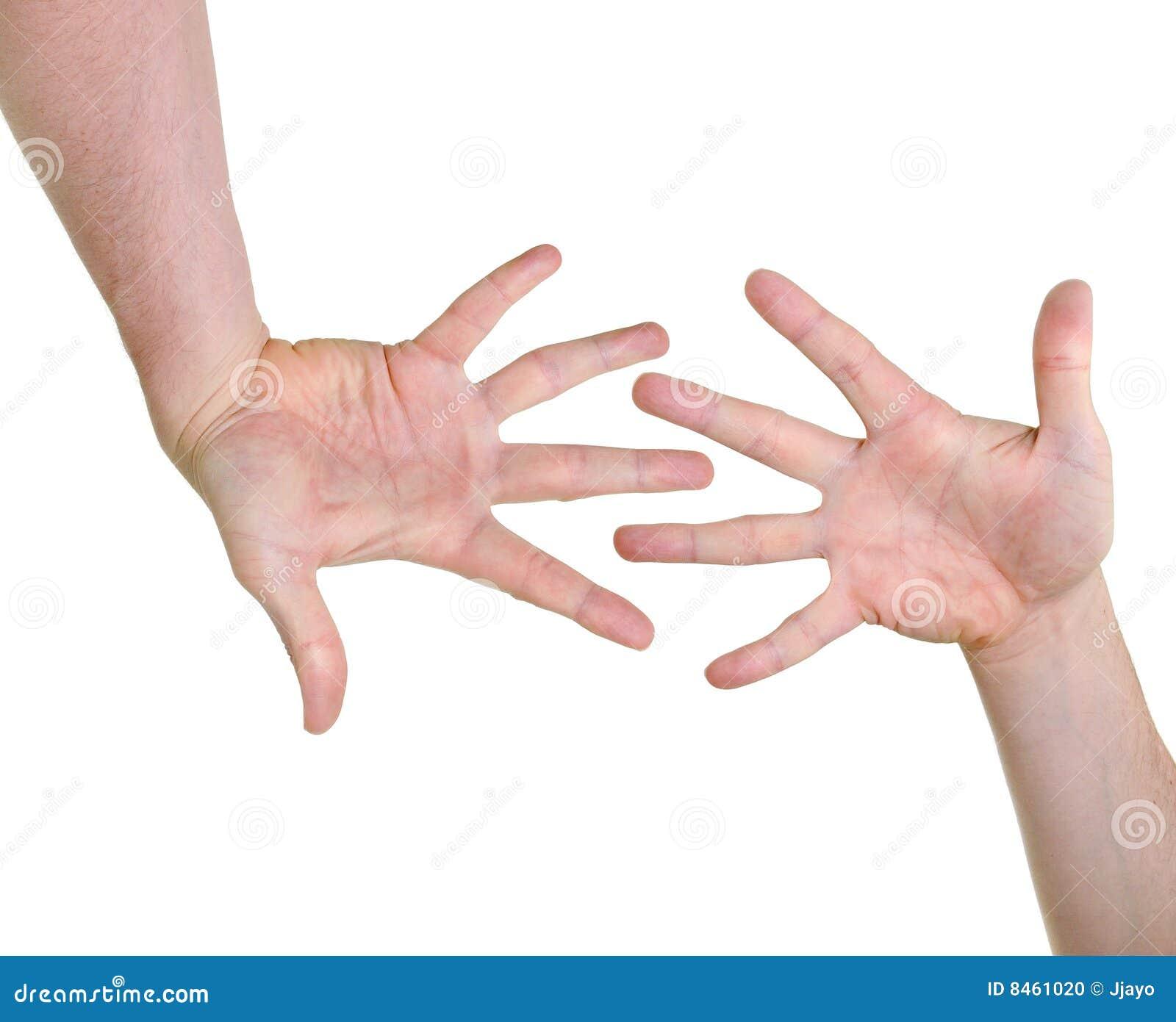 Förenlighethänder som indikerar två
