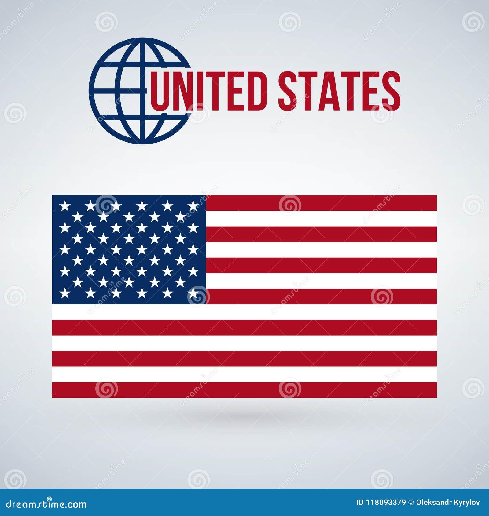 Förenta staterna sjunker, illustrationen som isoleras på modern bakgrund med skugga