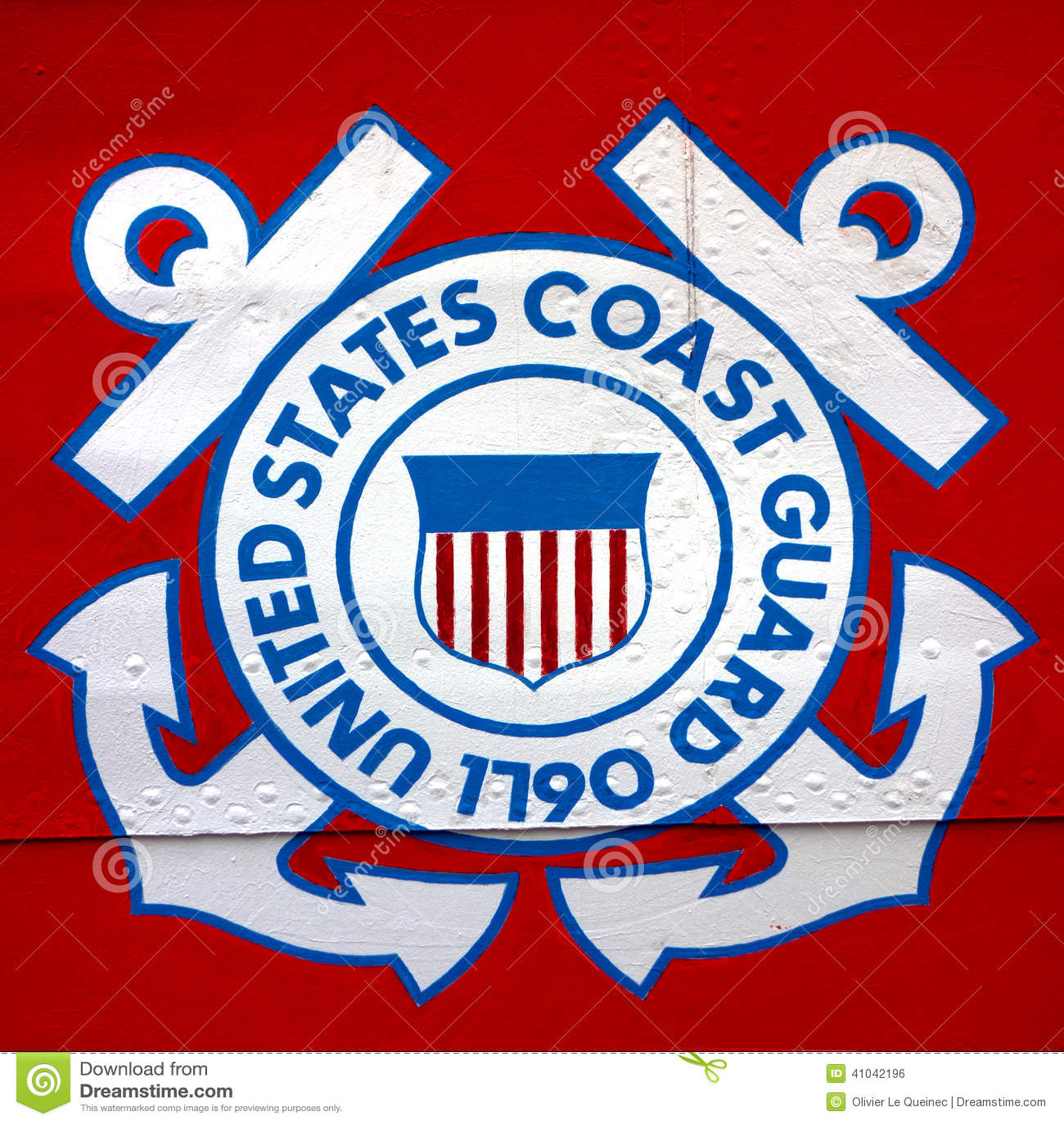 Förenta staternakustbevakning Shield Emblem på skeppet