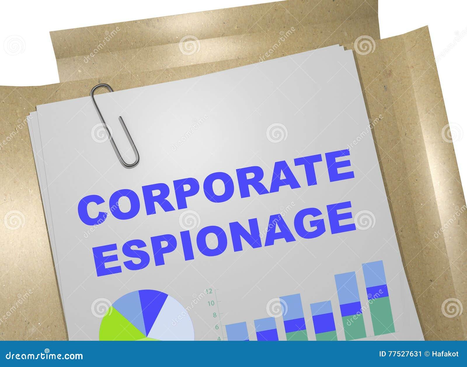 Företags spionagebegrepp