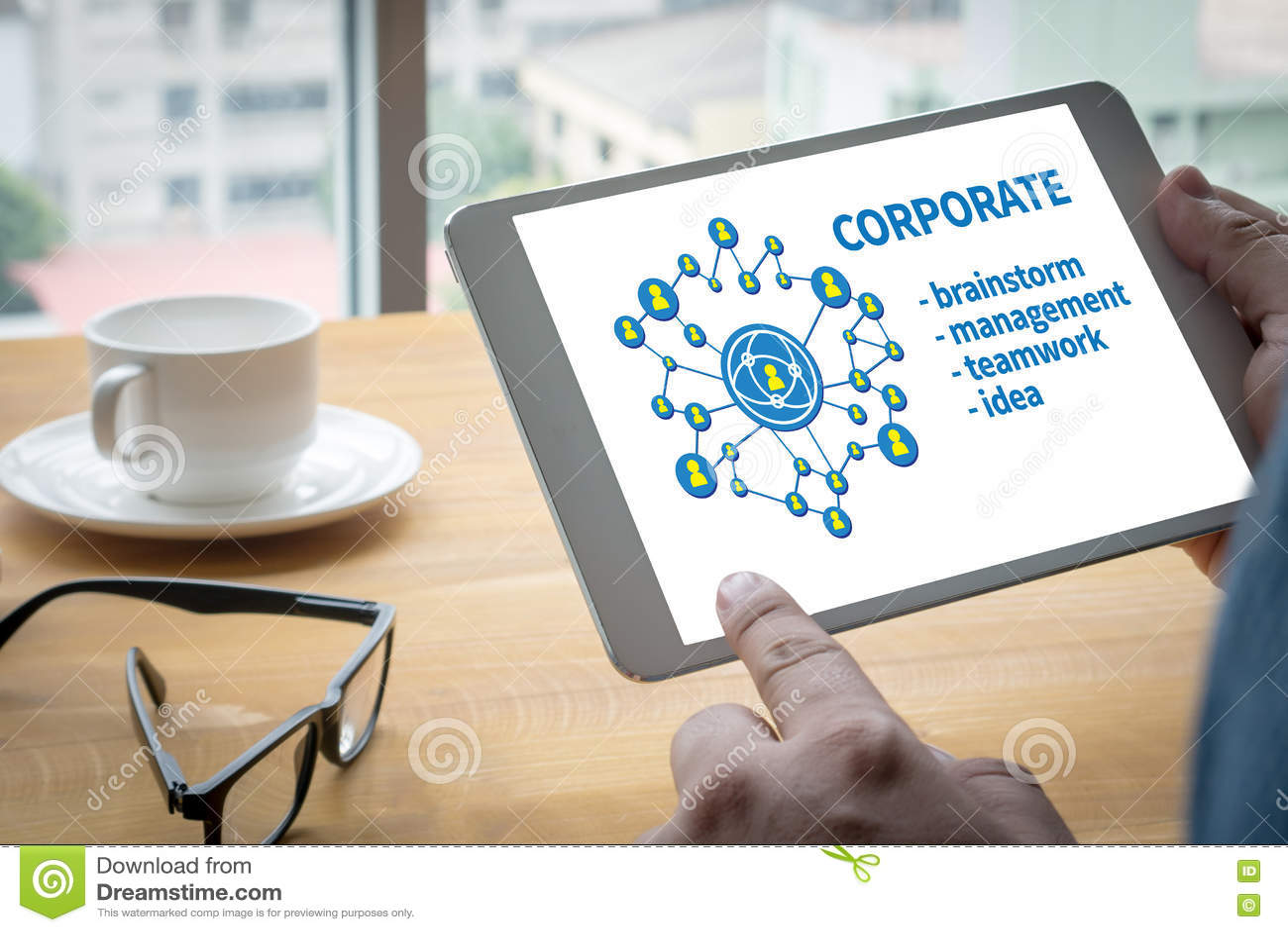 FÖRETAGS teamwork och COR för ledning för processaffärsstrategi