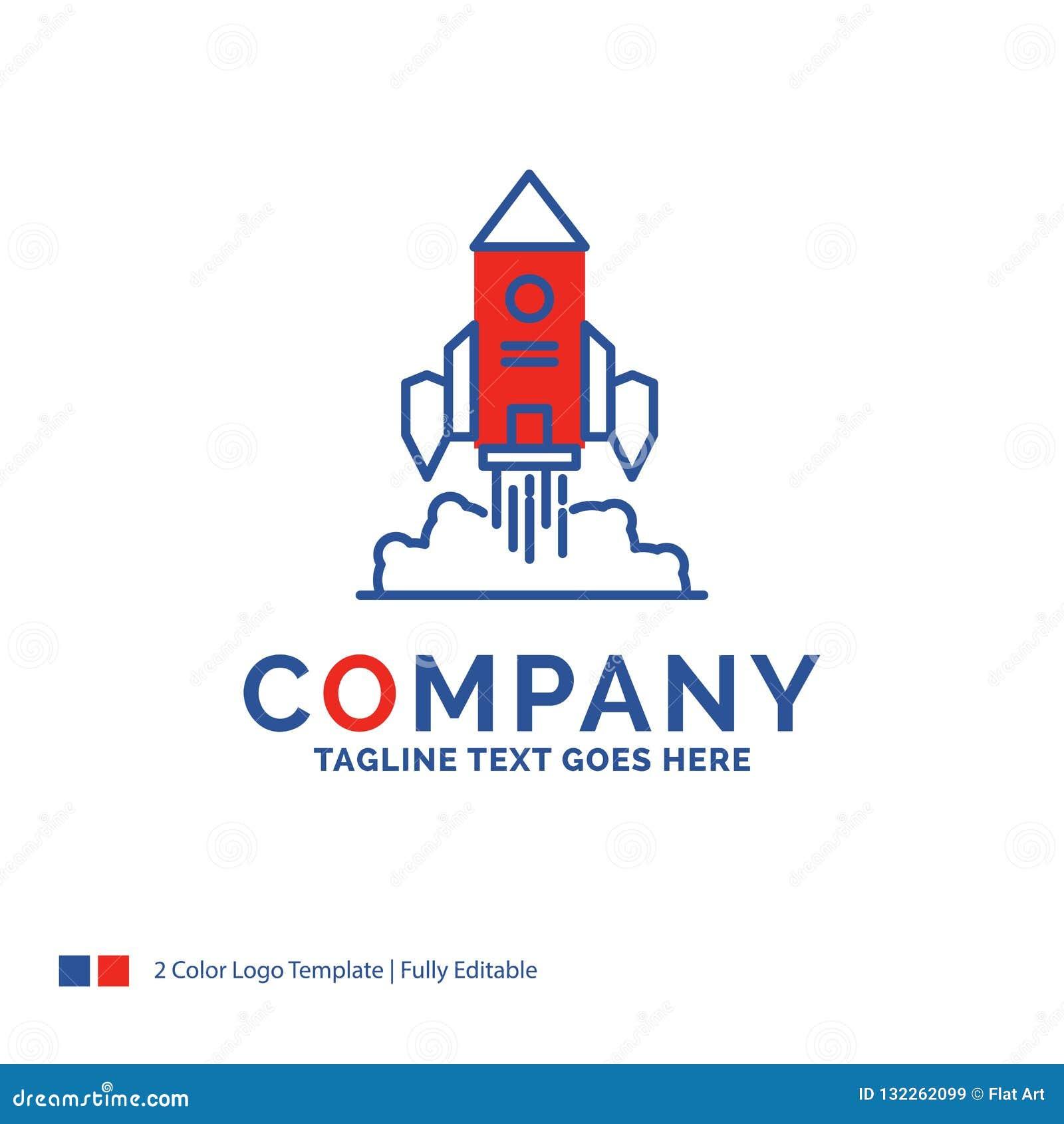 Företagsnamn Logo Design For Rocket, rymdskepp, start, lansering