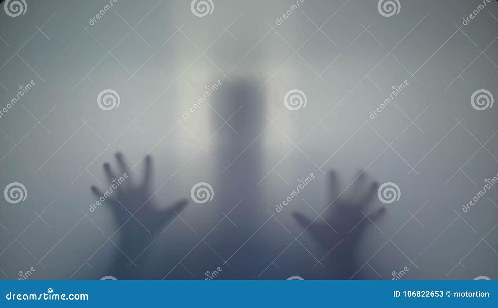 Förfärlig kontur, läskig övernaturlig främling, konstig varelse arkivfilmer