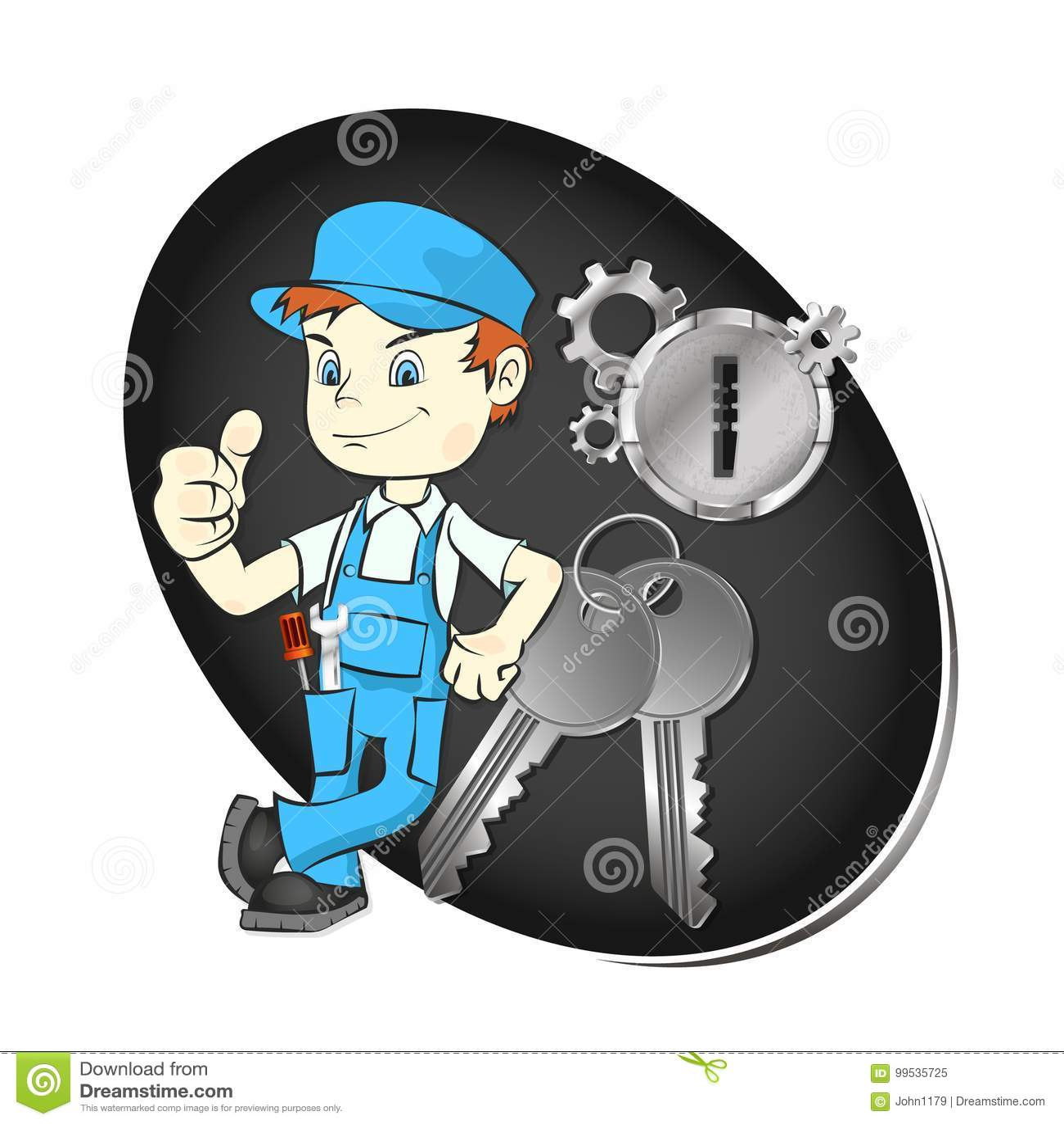 Förlage av reparationen av tangenter och lås