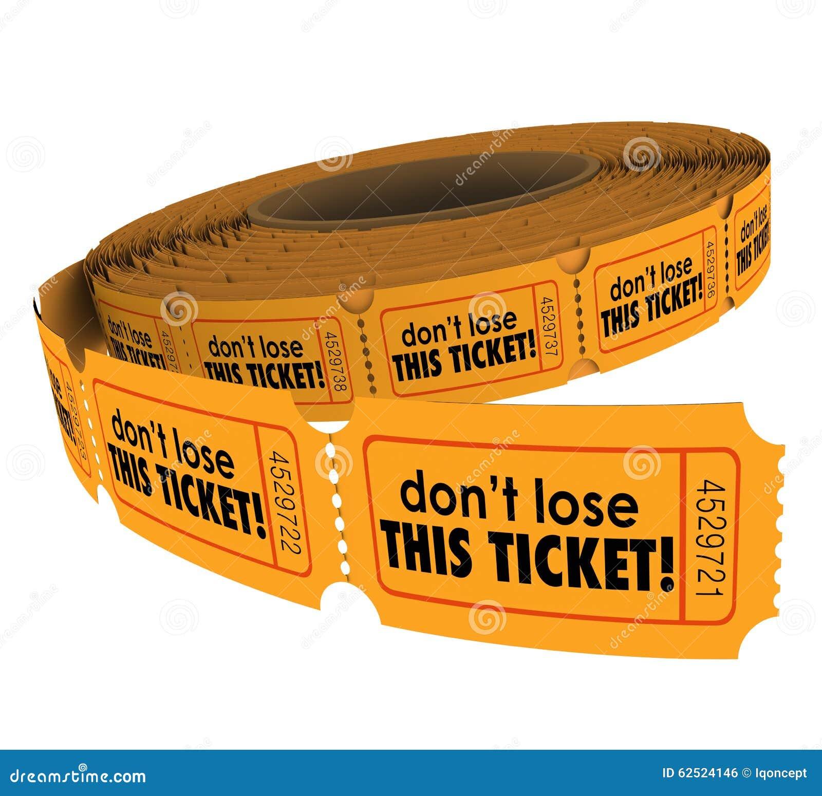 Förlora inte detta kassaskåp för biljettreklamationsuppehället skriver in stridtombola
