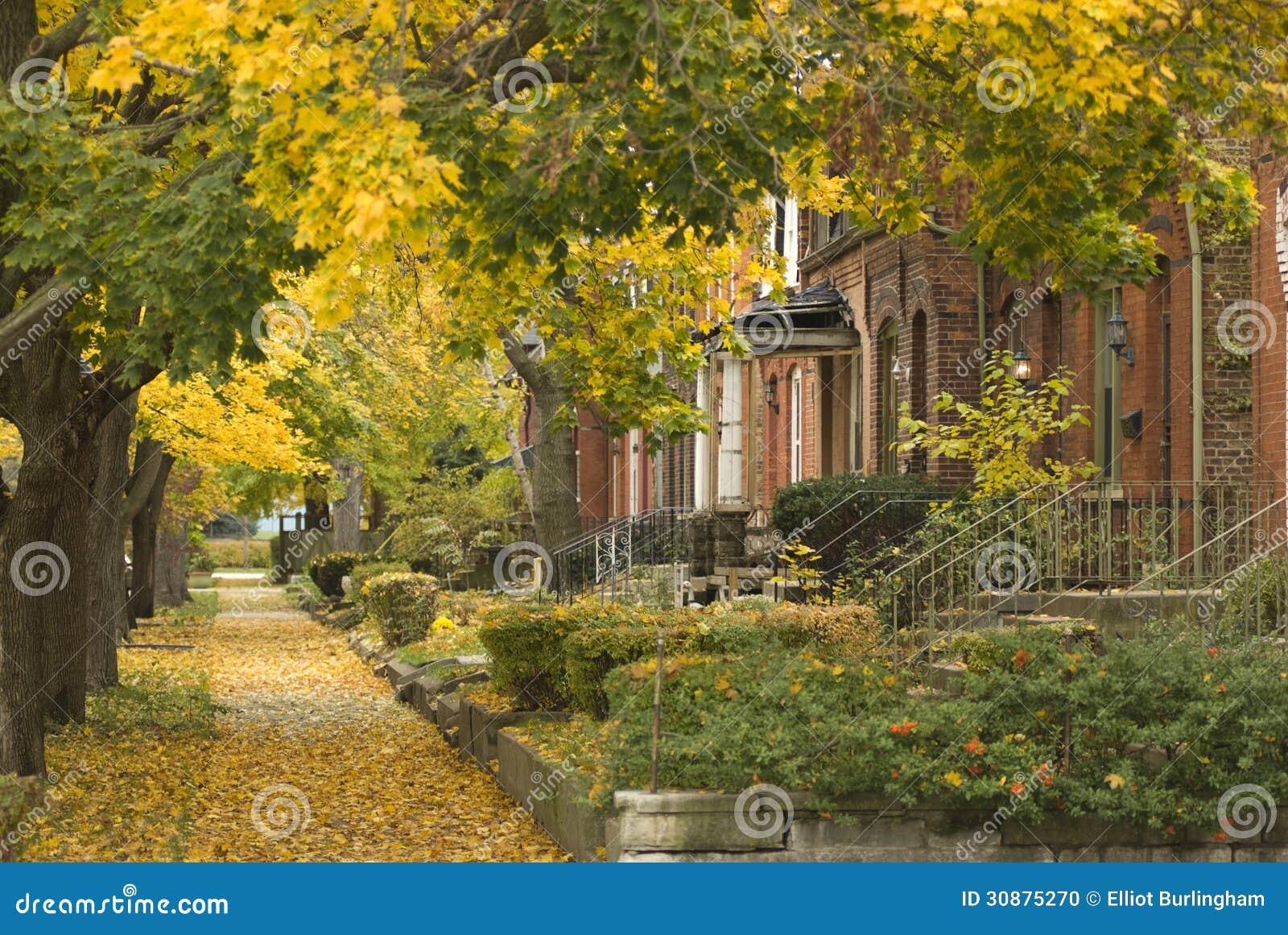 Förorts- grannskap i södra sida av Chicago