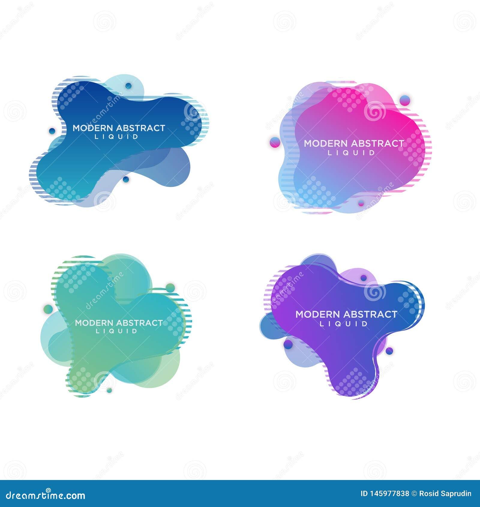 Försäljning för baner för modern vektorlutningbefordran abstrakt vätske
