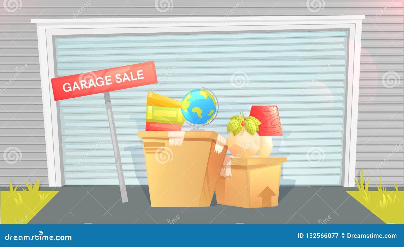 Försäljning hemifrån tecken med asken nära en dörr hus utanför Sälja saker för flyttningen Låt oss som flyttar oss!