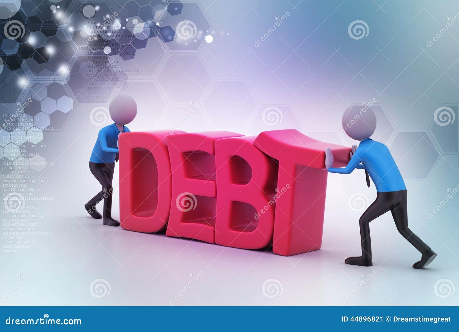 Försök för folk 3d att undvika skuld