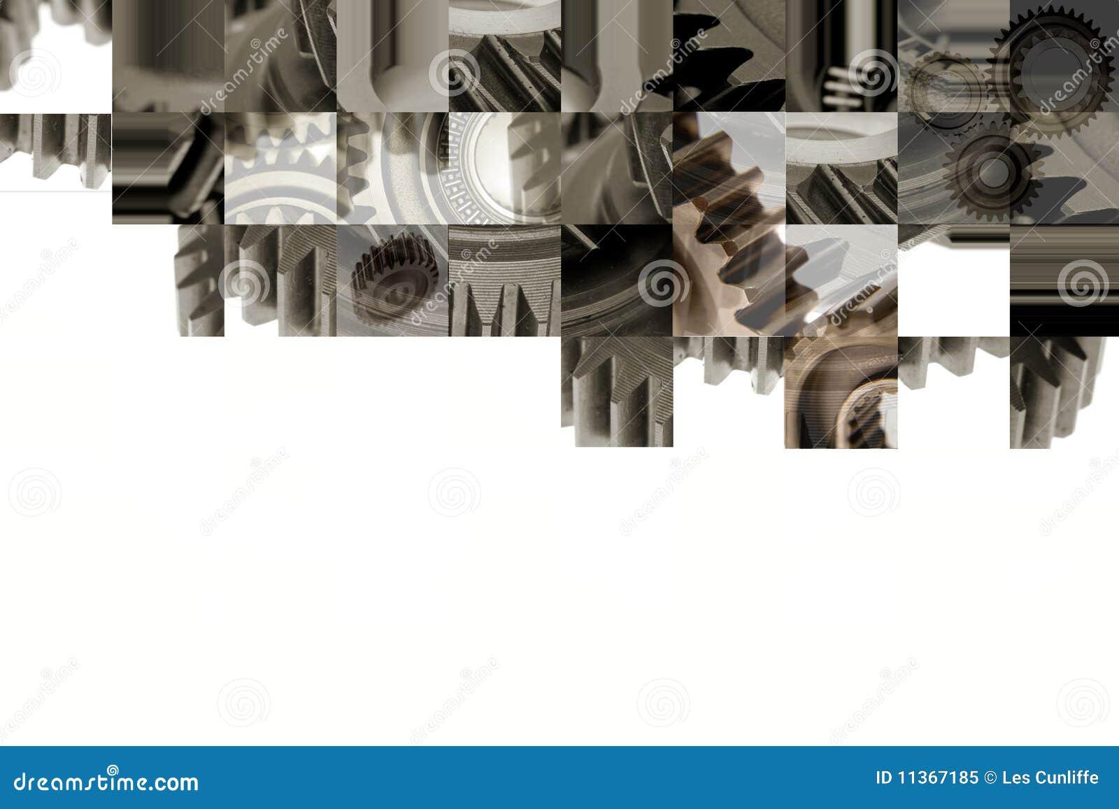 Förser med kuggar collage