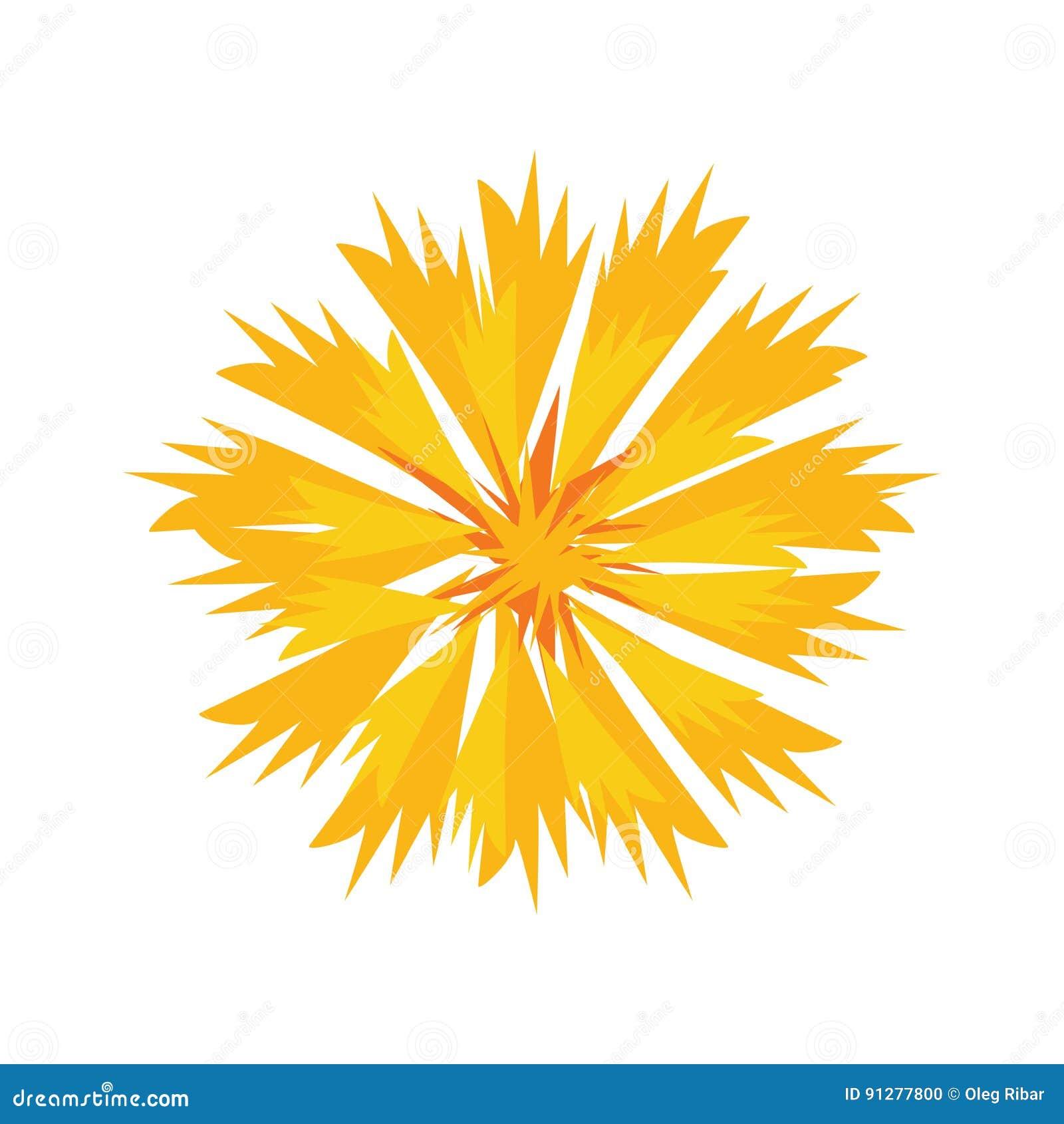 Försiktig gul blommablomningillustration i vektor
