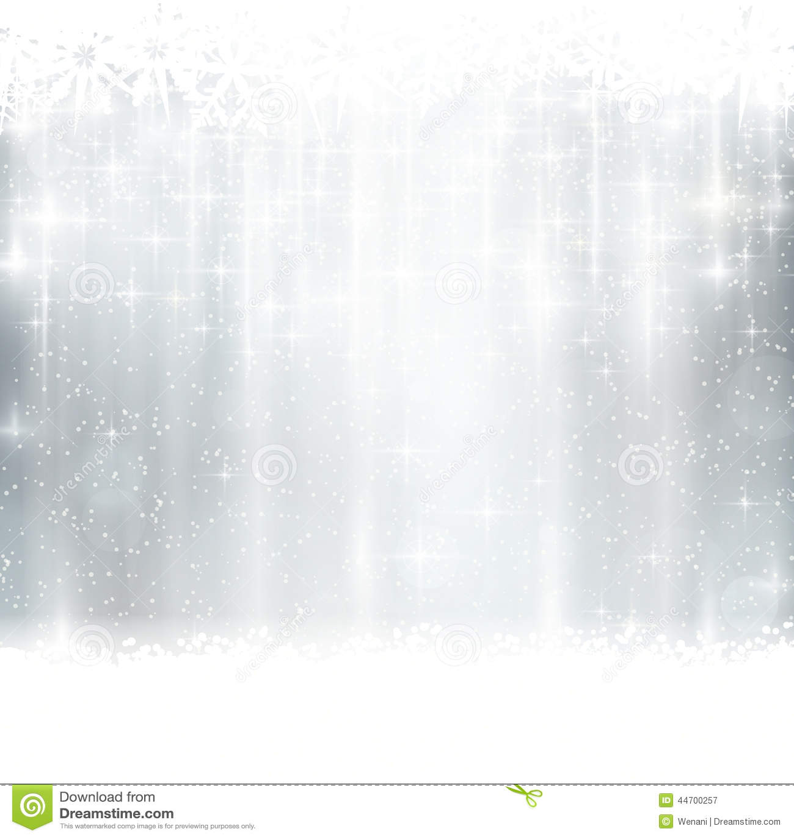 Försilvra vintern, julbakgrund med ljusa effekter