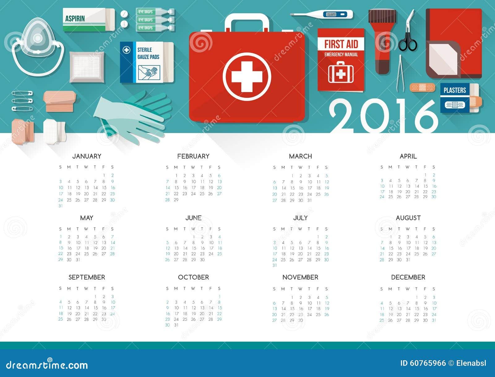 Första hjälpensatskalender 2016