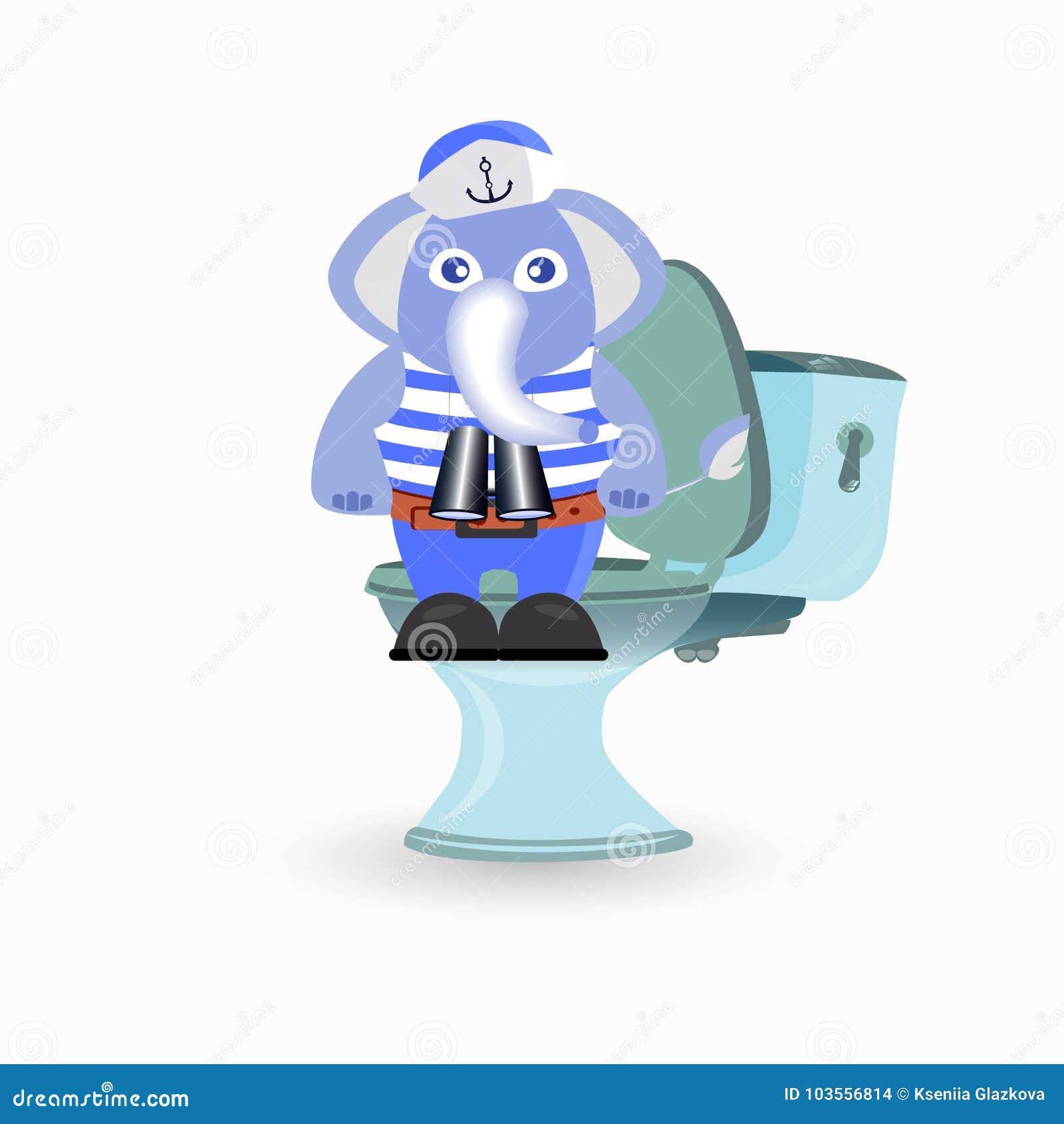 Förstoppning Och Diarré Barn S Stock Illustrationer Illustration