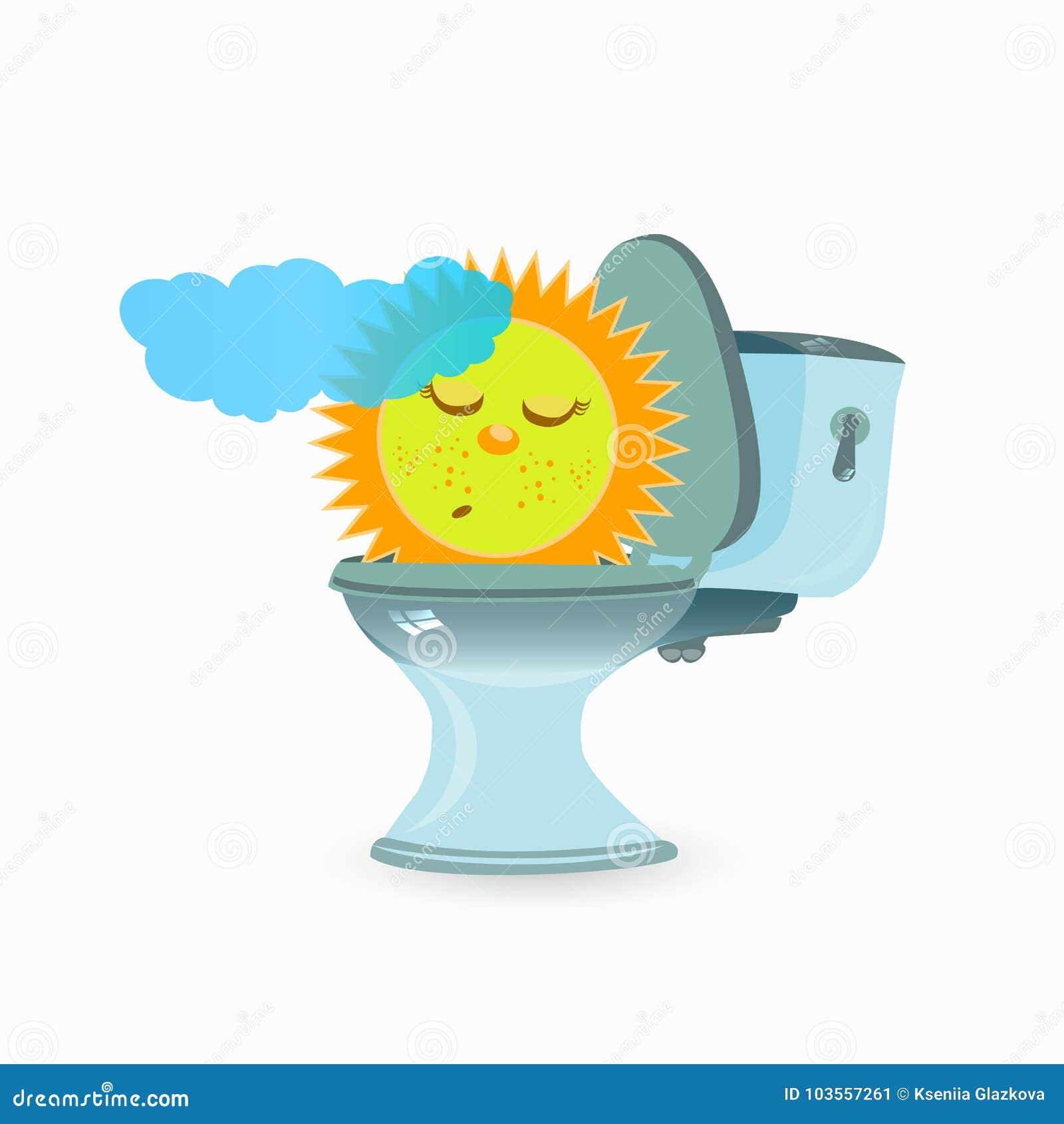 Förstoppning Och Diarré Problem För Barn S Stock Illustrationer