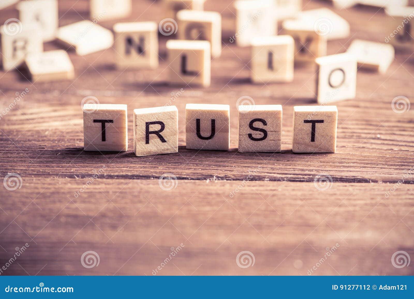 Förtroendeord av träbeståndsdelar