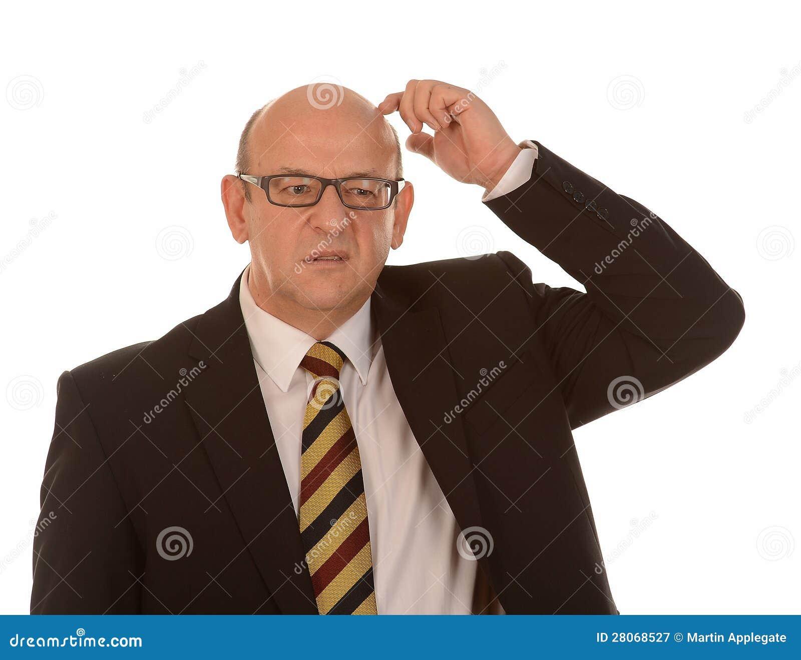 Förvirrat bli skallig manen
