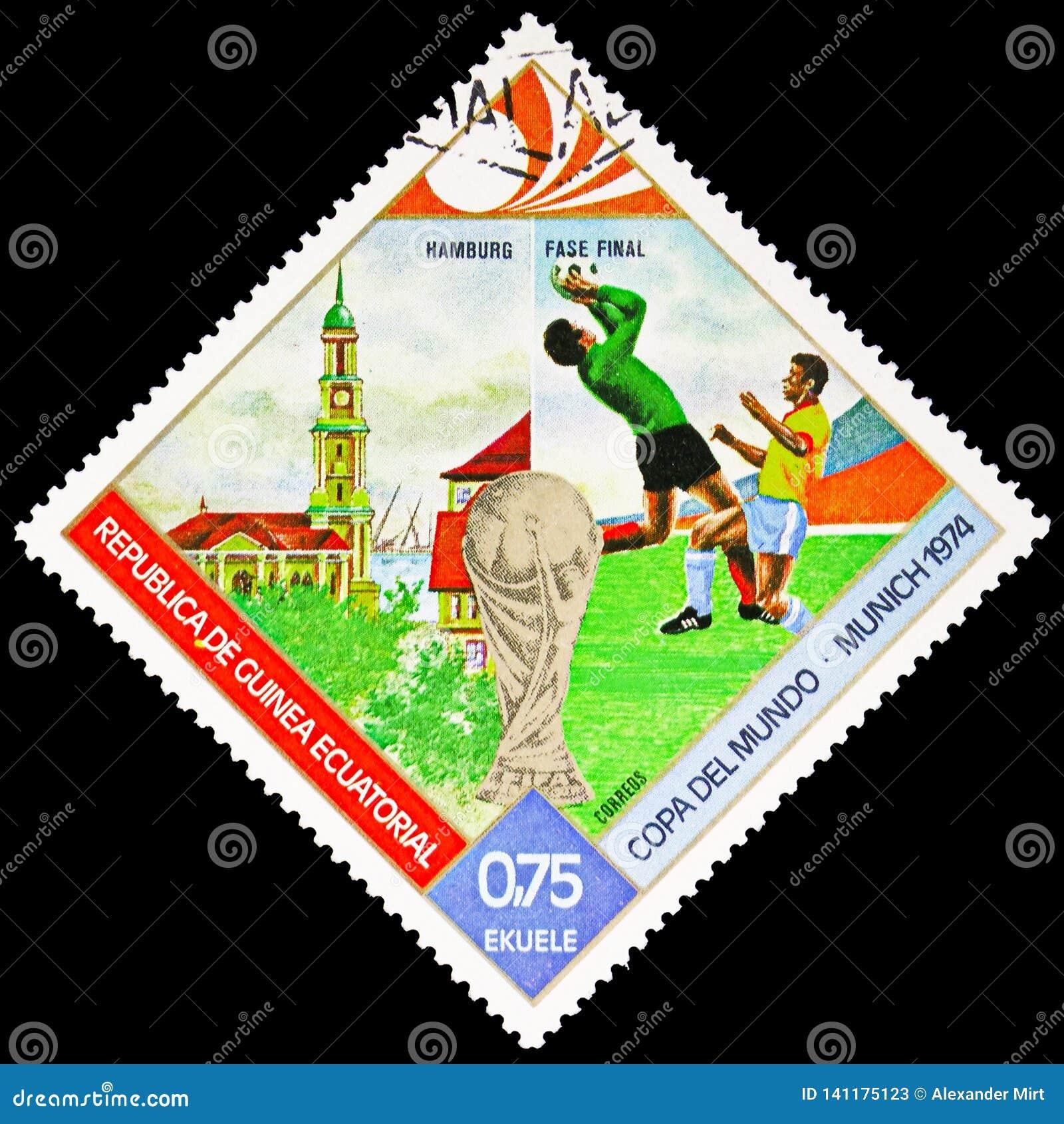 Fútbol, Hamburgo, fútbol MUNICH, serie del mundial de las ciudades del finalista, circa 1974
