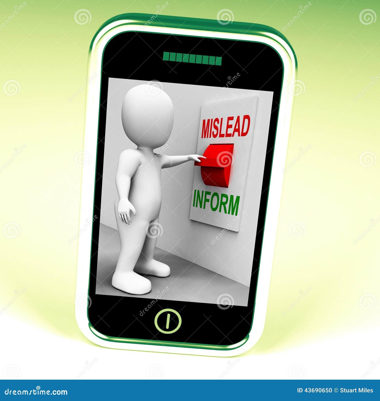 Führen Sie informieren die irreführenden Schalter-Shows oder informativen Rat irre