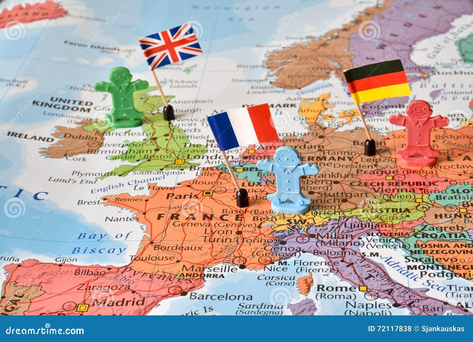 Fuhrerlander Deutschland Frankreich Grossbritannien Konzeptbild
