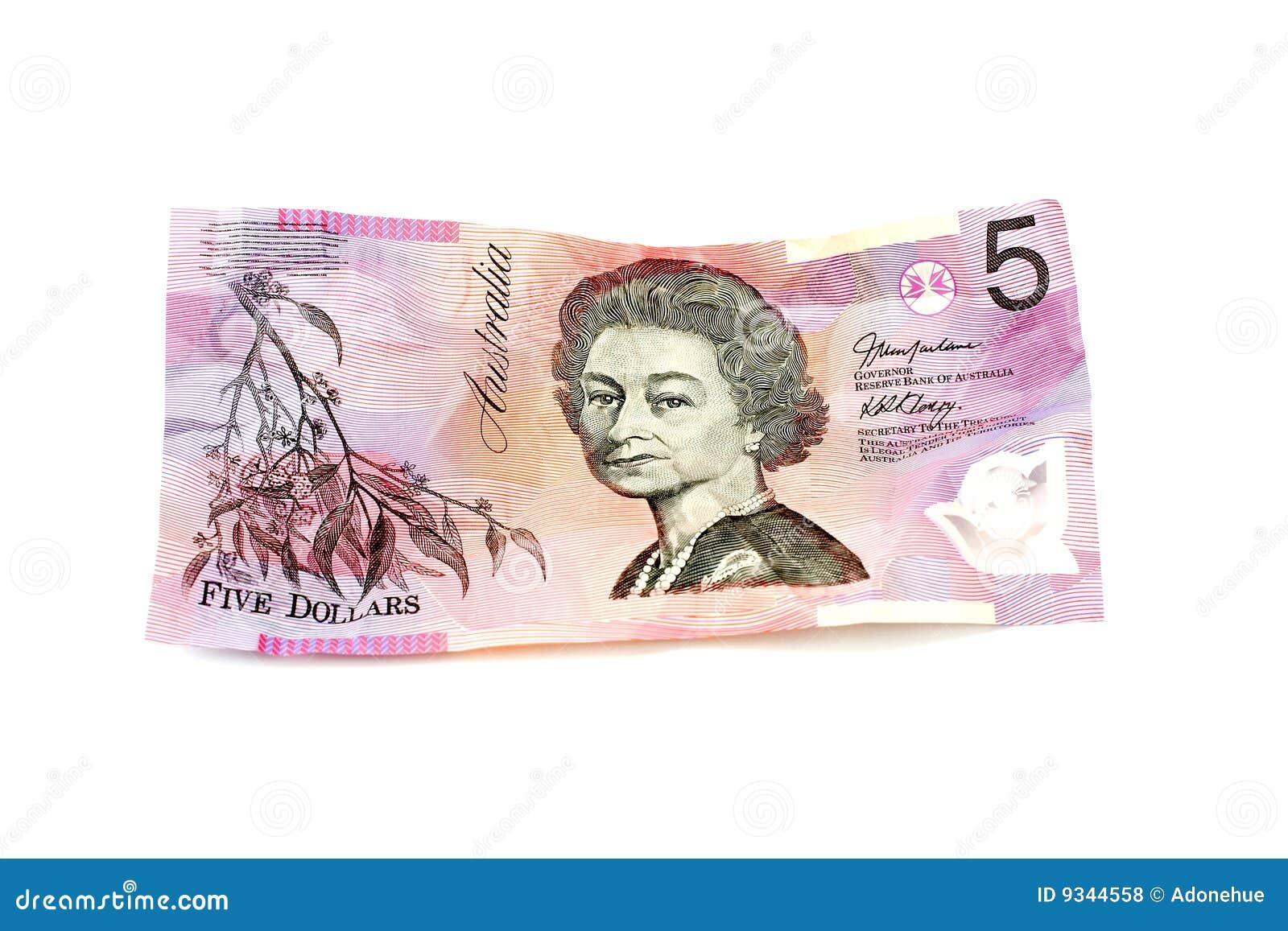 Fünf Australische Dollar Stockfoto Bild Von Geld Wert 9344558