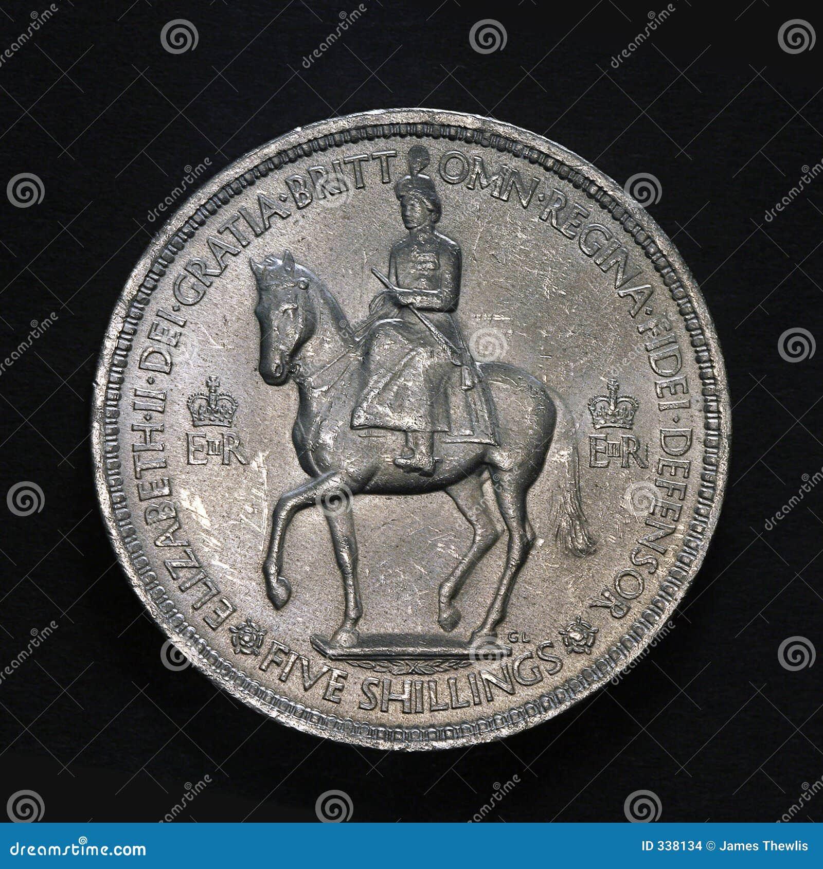 Fünf Schilling Münze Stockfoto Bild Von Antike Straße 338134