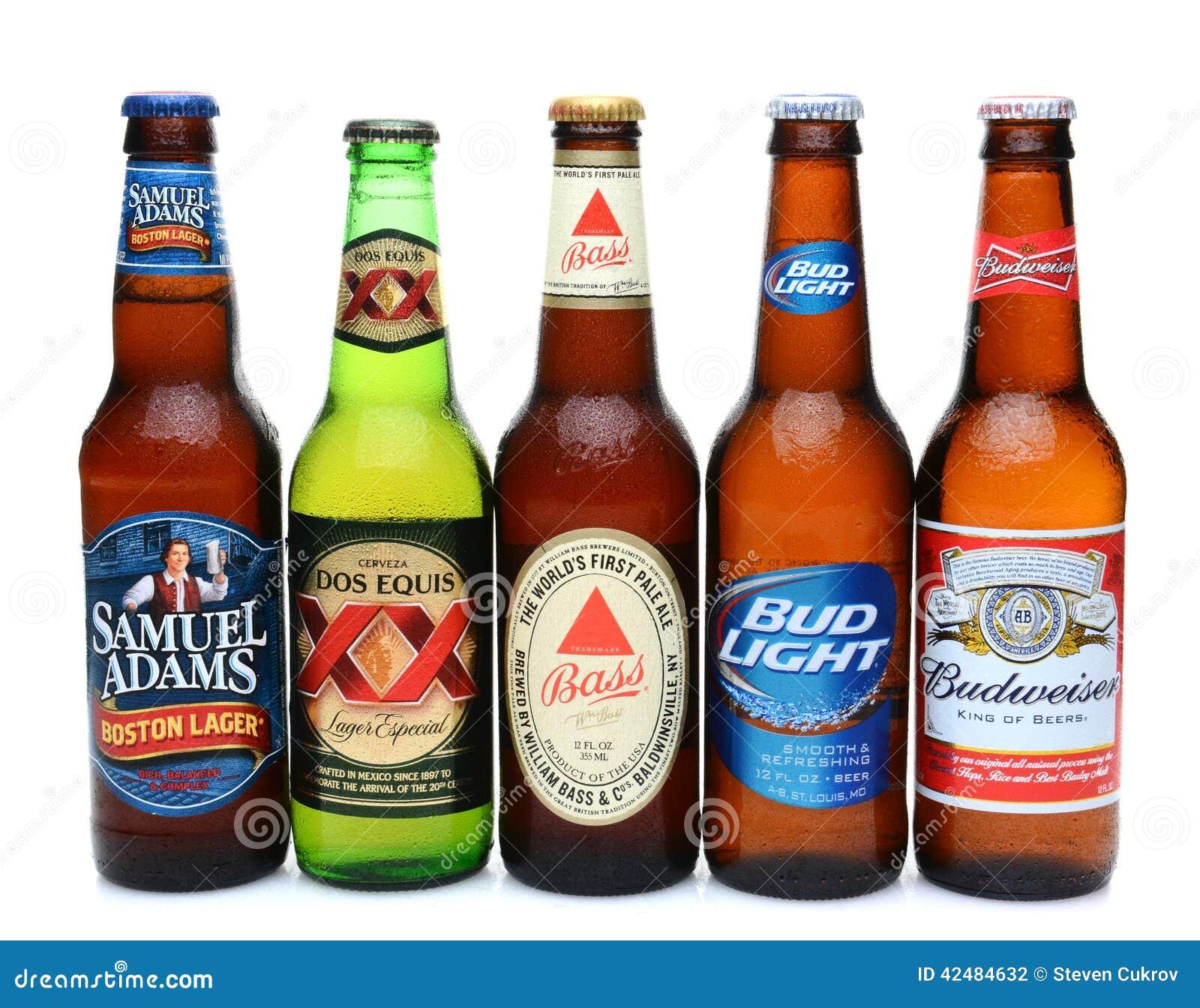 Fünf sortierten kalte Biere