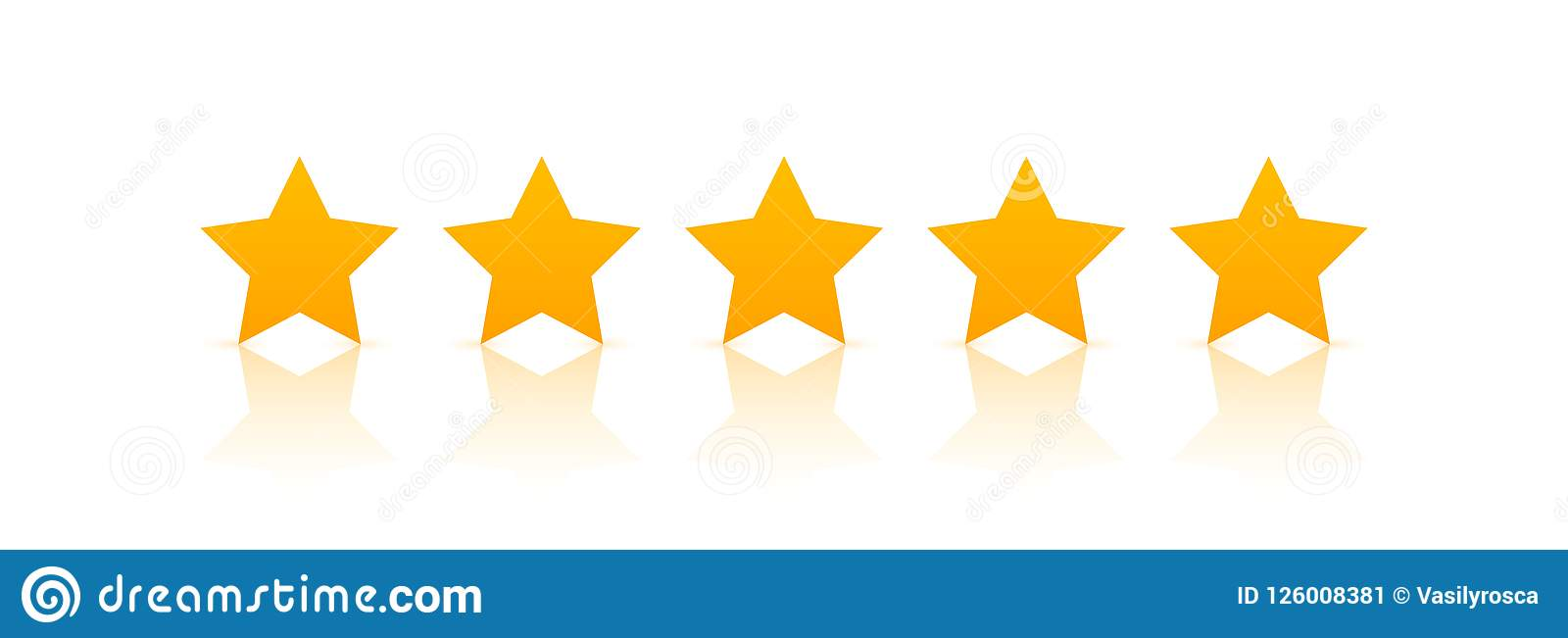Fünf-Sternebewertungsikonenvektor Ratenabstimmung mögen Symbol ordnen