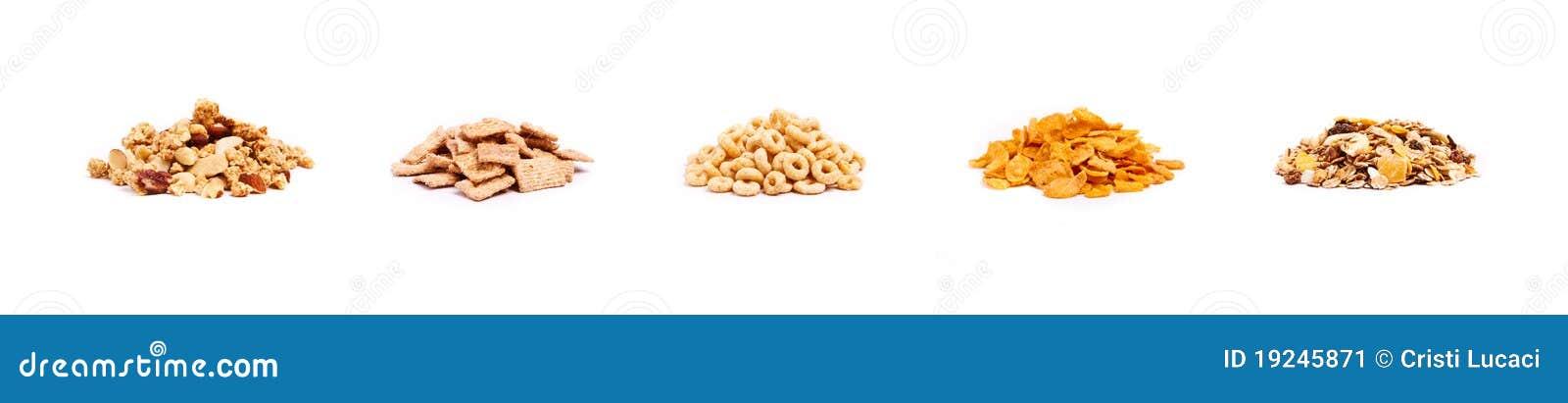 Fünf Typen Getreide