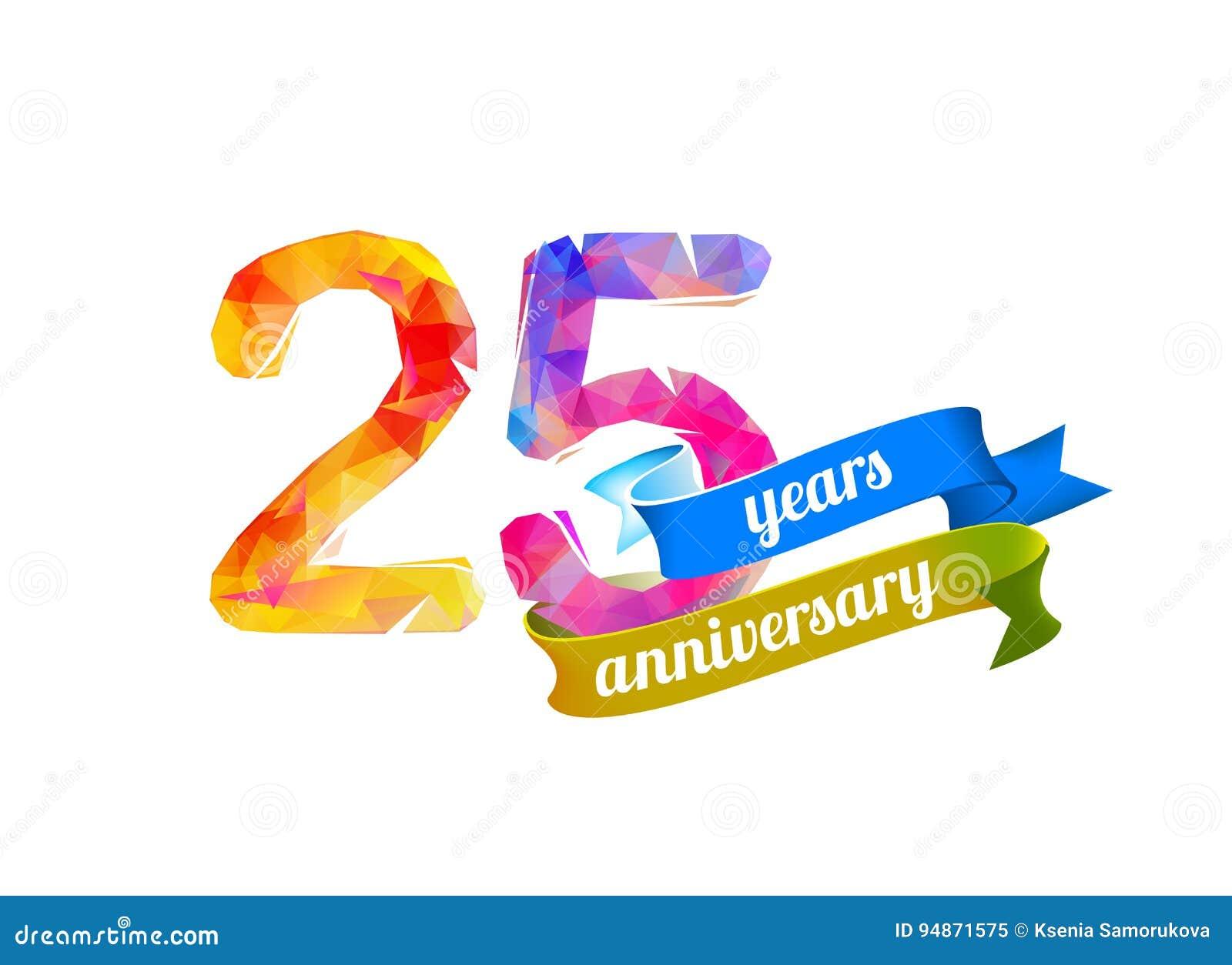 25 fünfundzwanzig Jahre Jahrestag