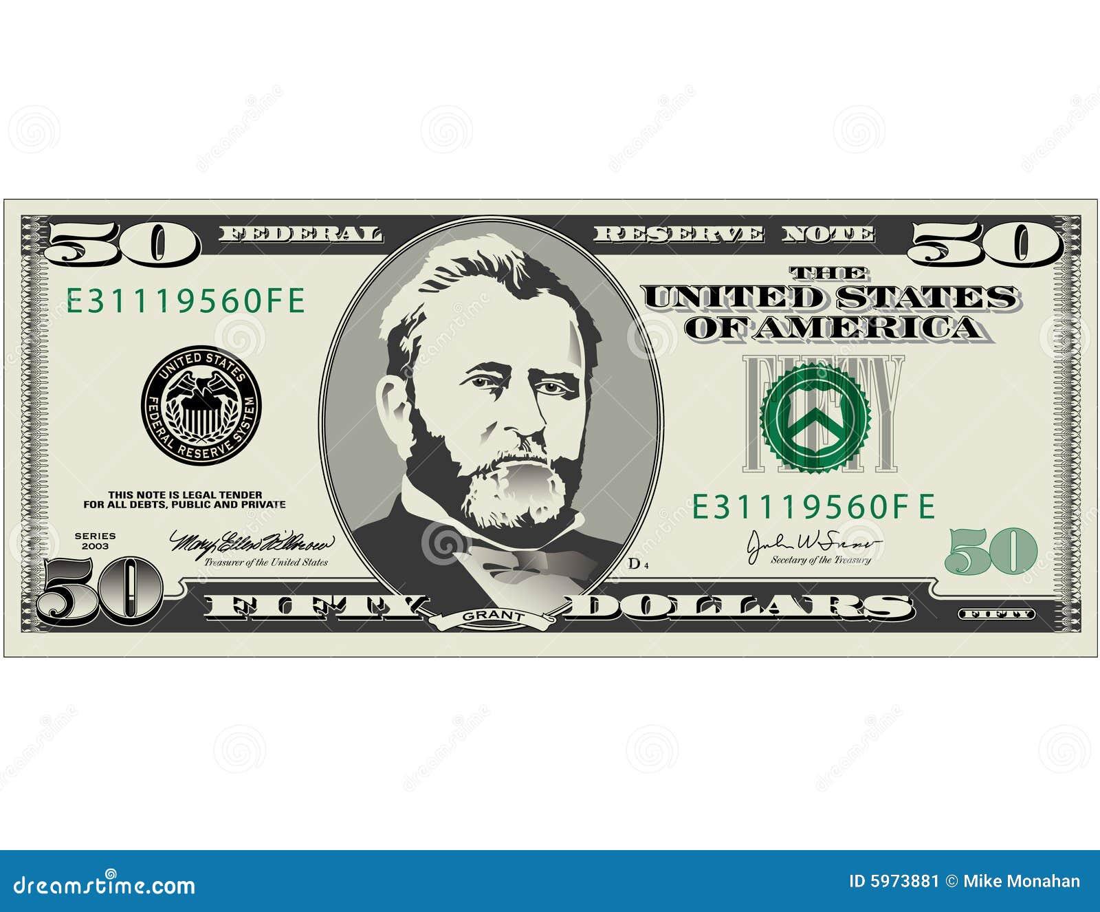 Fünfzig Dollarschein