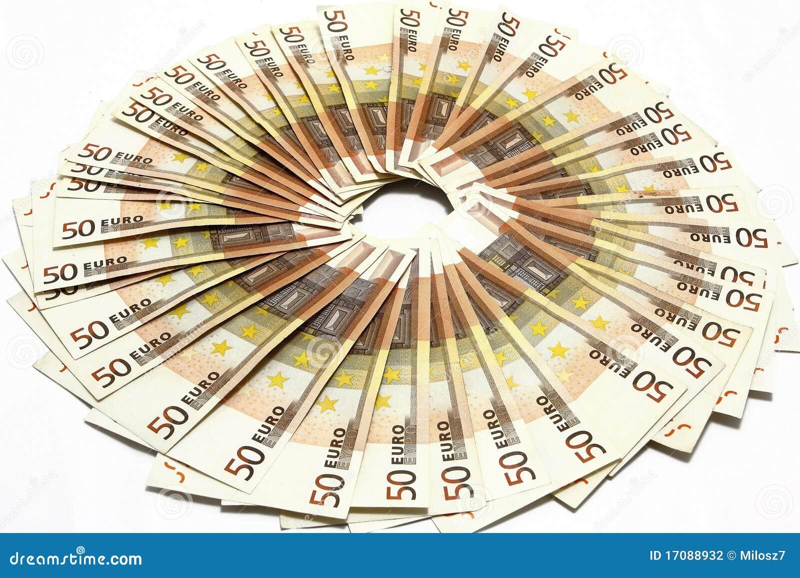 Fünfzig Eurorechnungen