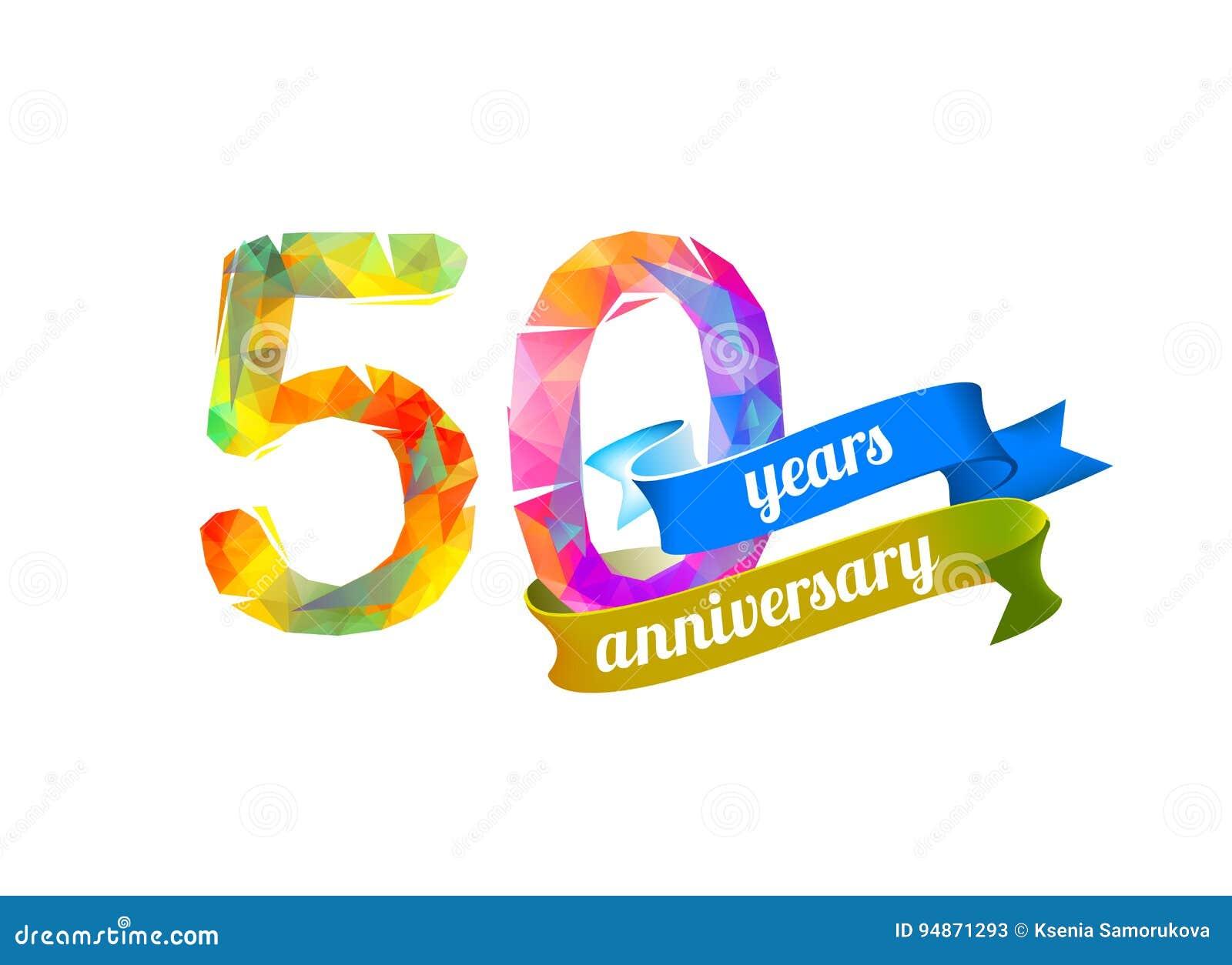 50 fünfzig Jahre Jahrestag