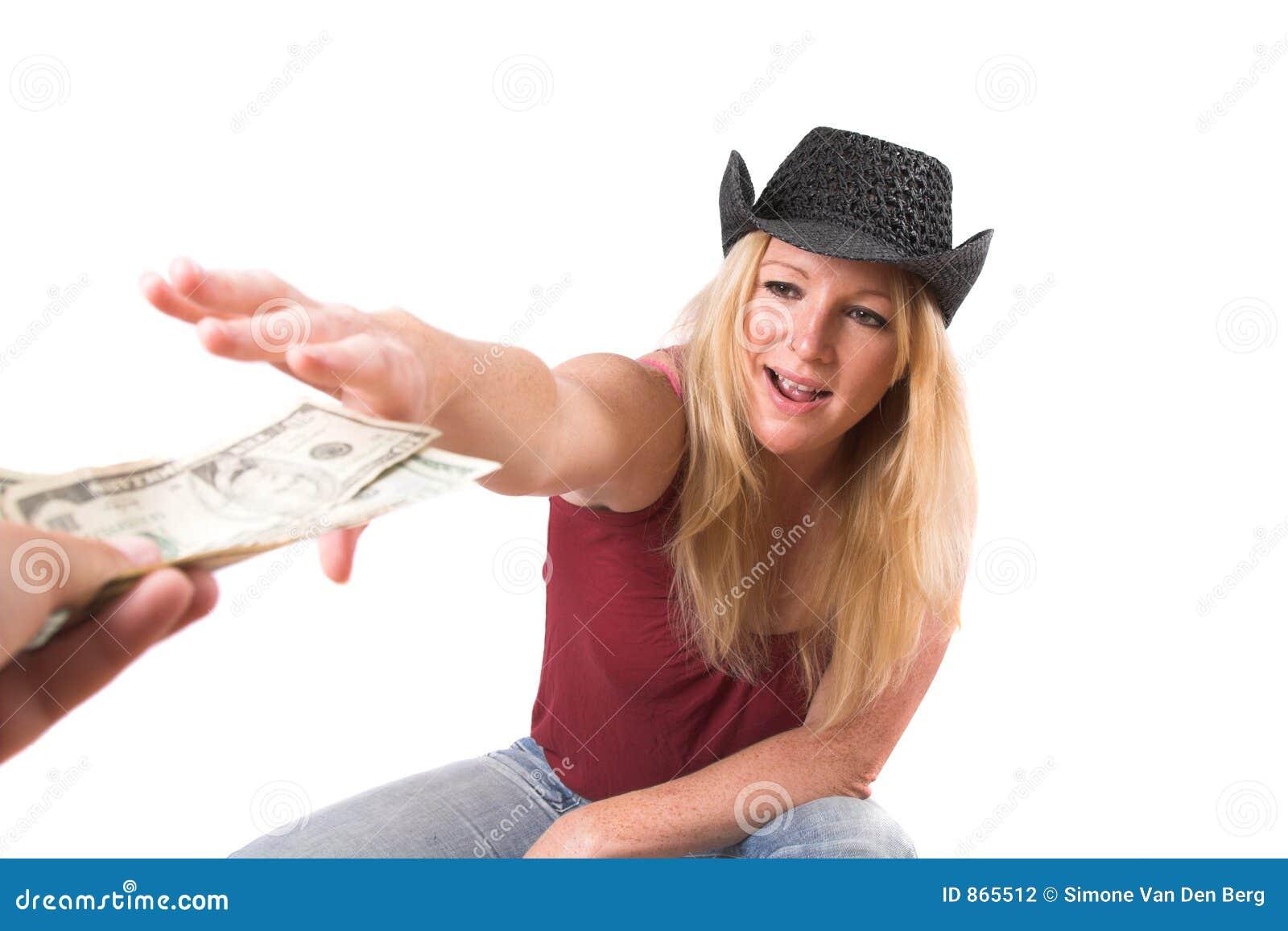 Für das Geld heraus erreichen