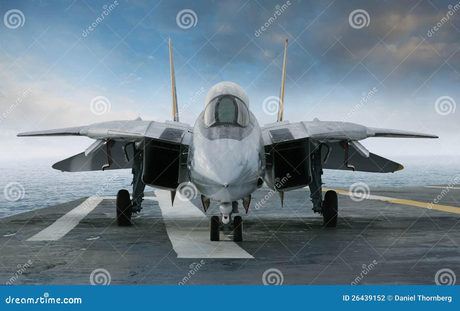 F 14 Tomcat myśliwiec odrzutowy na przewoźnika pokładzie