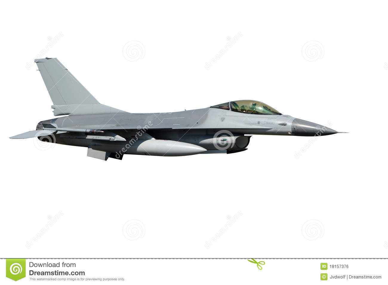16 Fighter Jet Isolated Royalty Free Stock Image Image 18157376