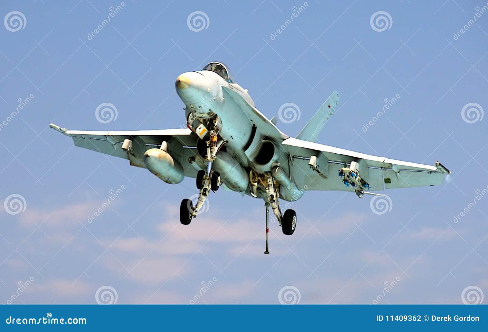 F-18 Hornet Landing on Aircraft Carrier