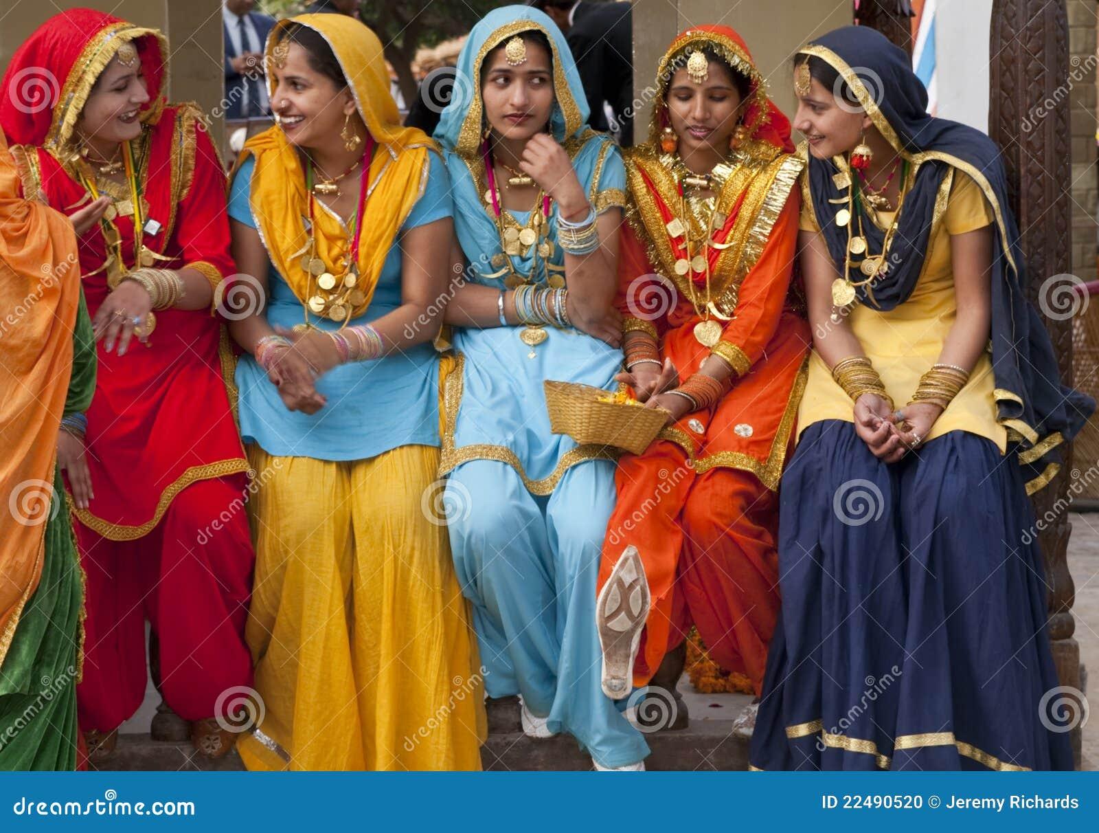 Färgrika india