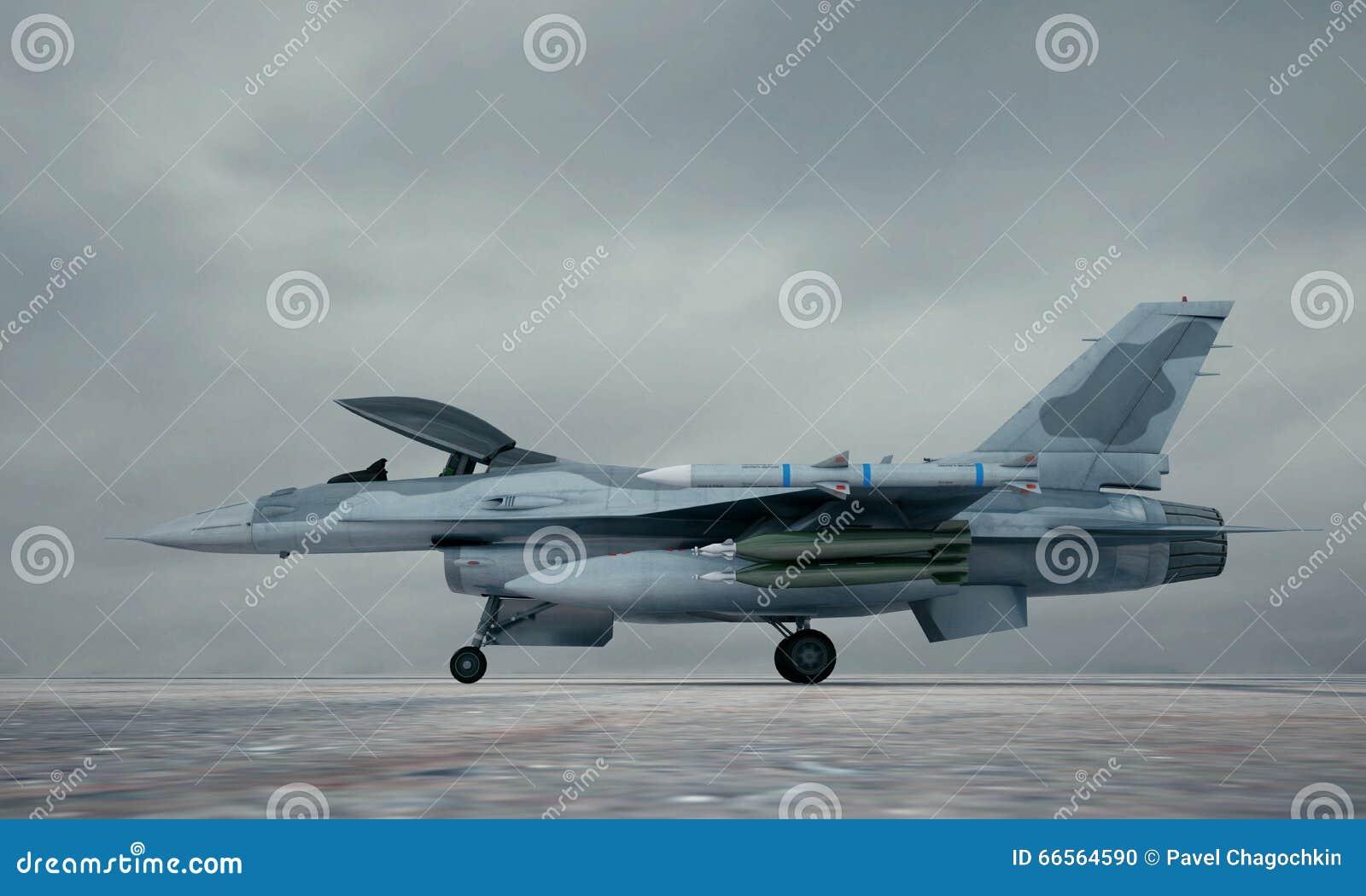 F 16, avião de combate militar americano Base militar