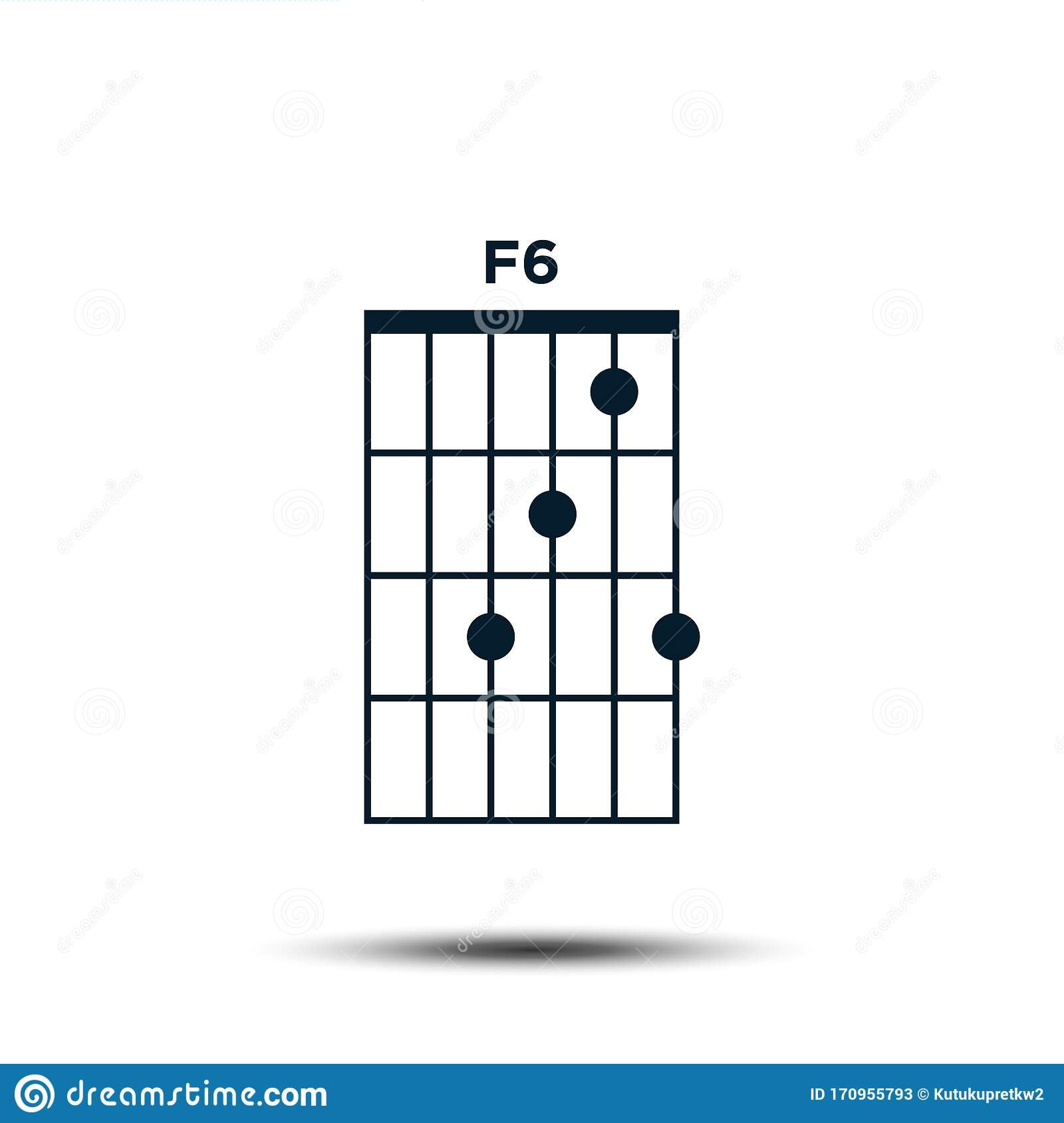 F15, Basic Guitar Chord Chart Icon Vector Template Stock Vector ...