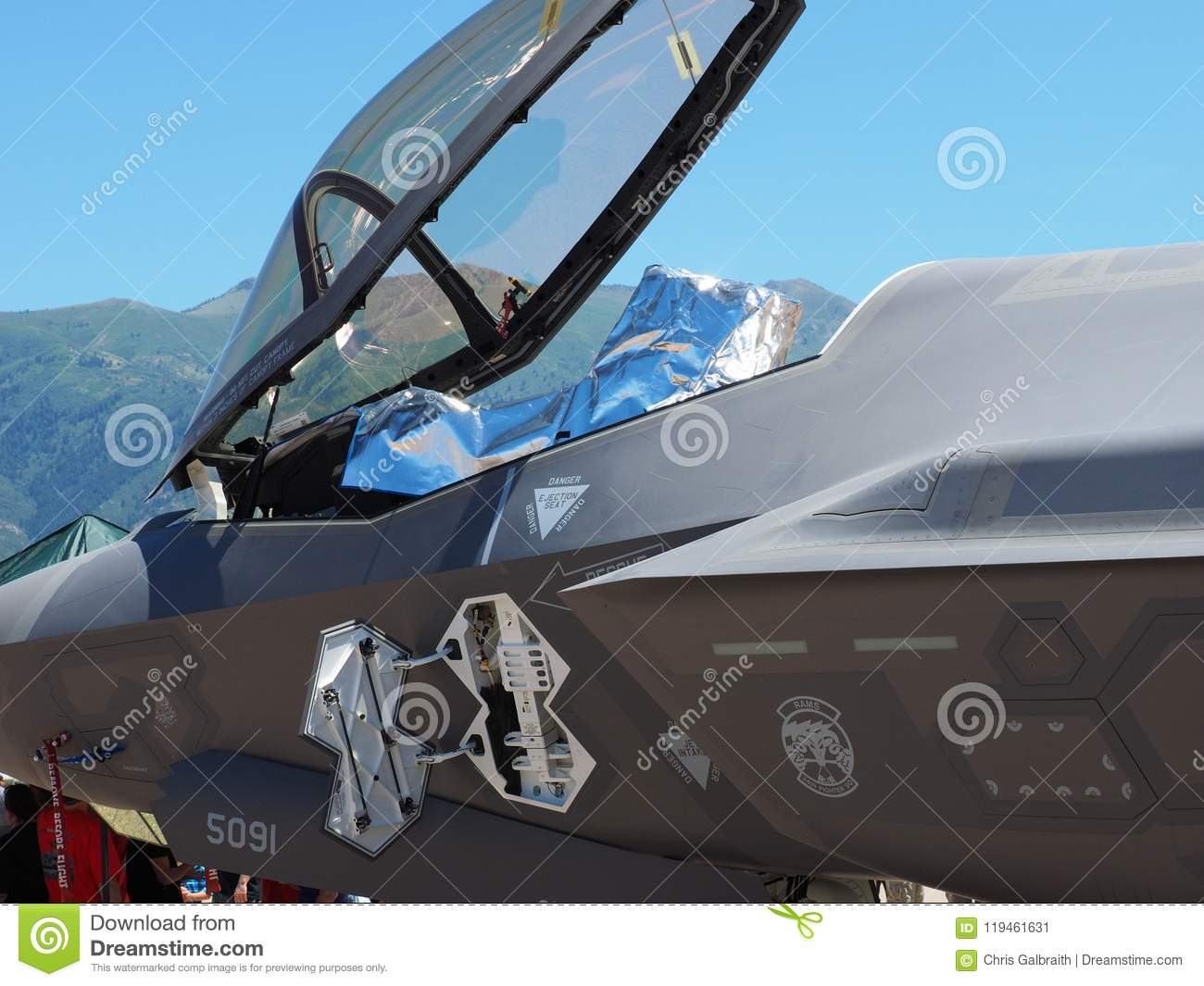 F-35 Cockpit and canopy editorial photo  Image of covered