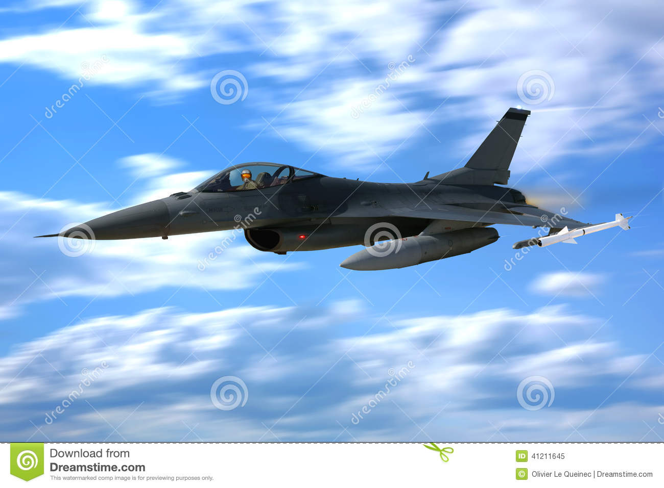 F 16 Fighting Falcon Fighter Jet Plane Flying Stock Photo