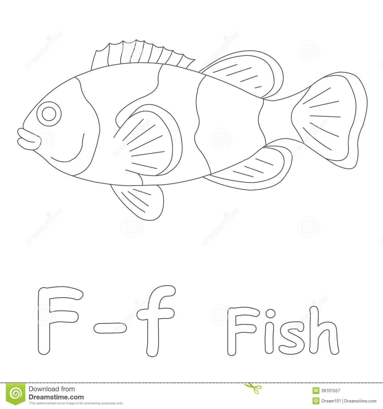 f for fish coloring pages - photo #22