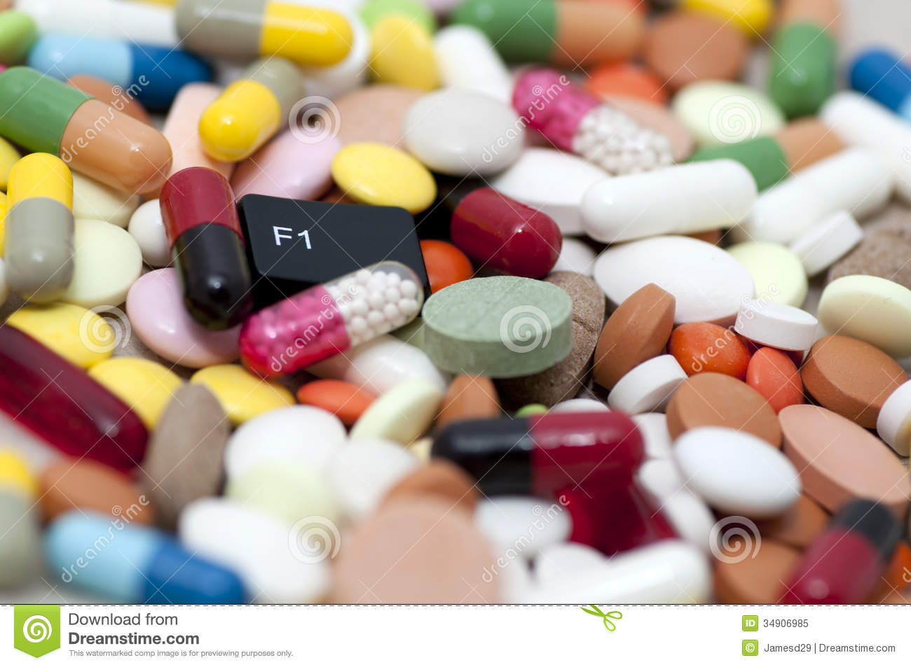 F1 (help) key among drugs (help with drugs)