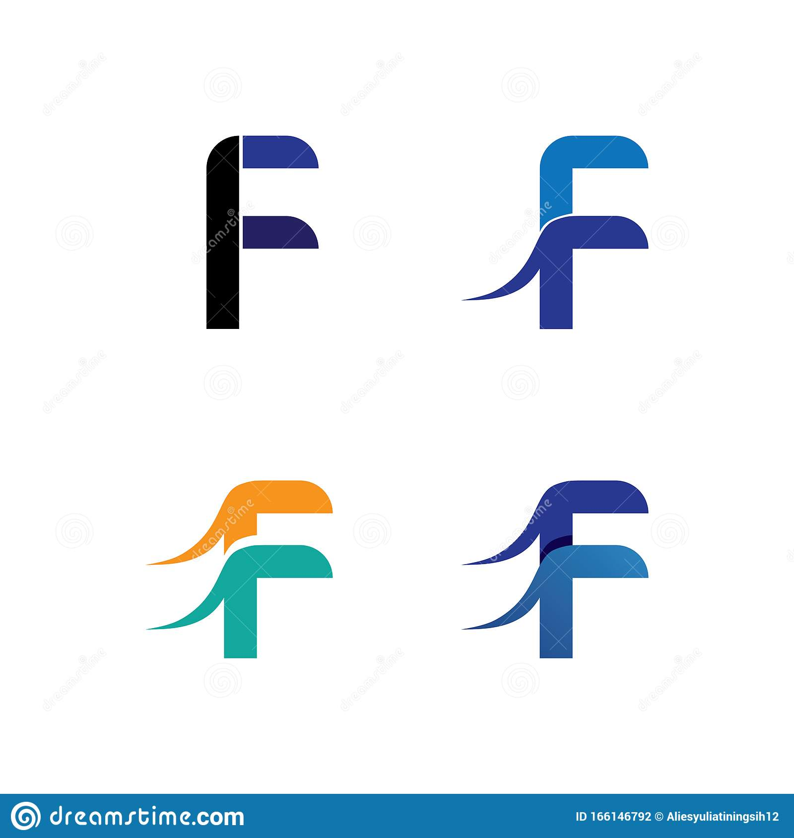 F Letter Logo And Symbols Template Vector Icons Stock Illustration Illustration Of Monogram Round 166146792