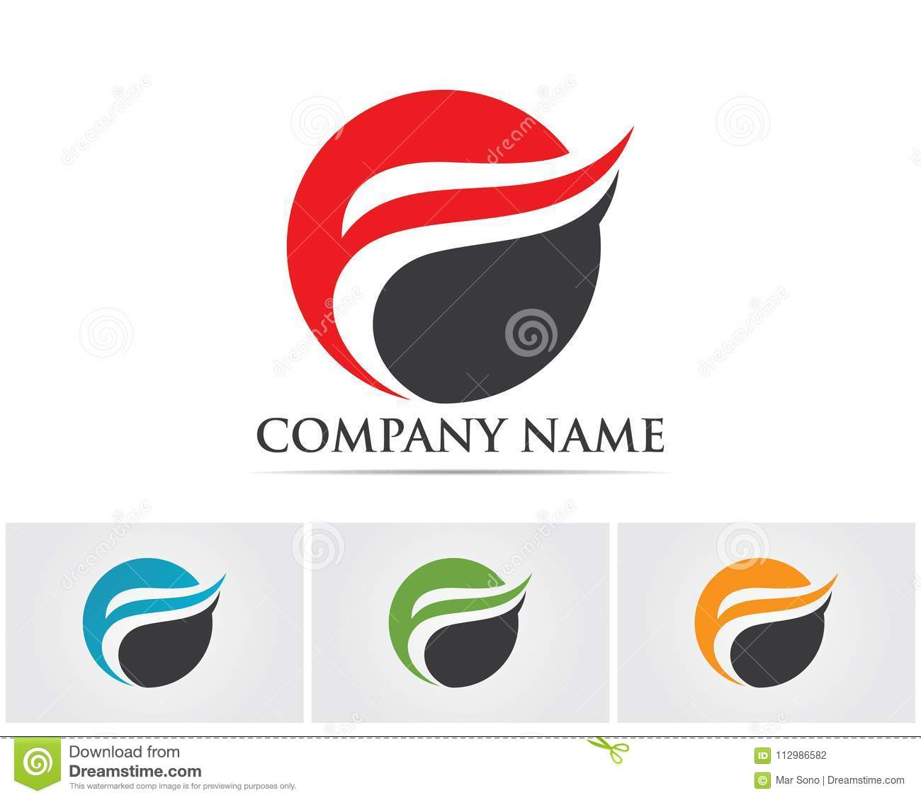 F letter logo and symbols template vector icons..