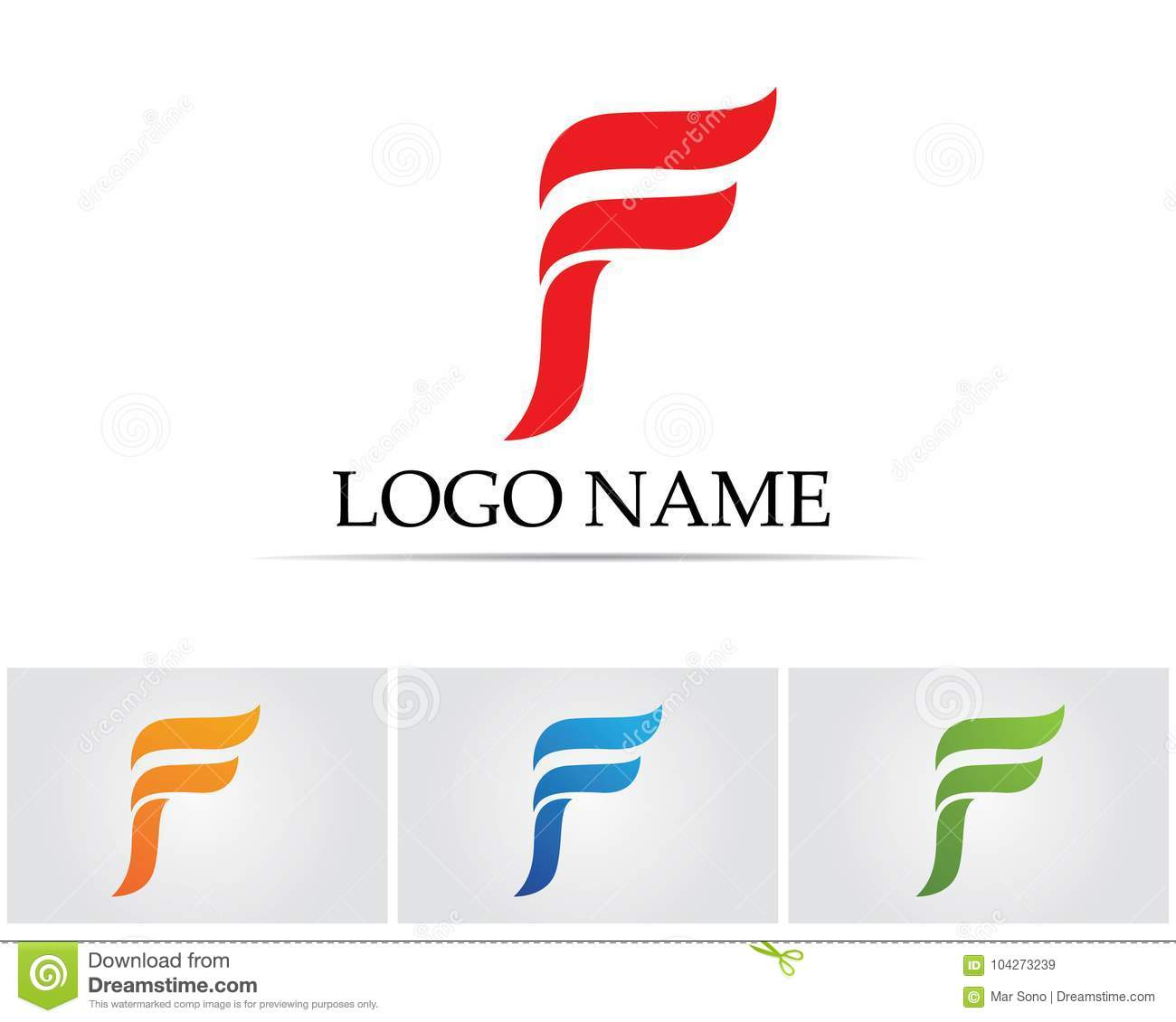 f letter logo and symbols template vector icons stock vector