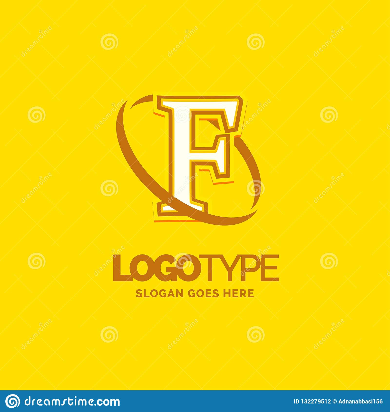 Colorful Company Logo Template With Tagline