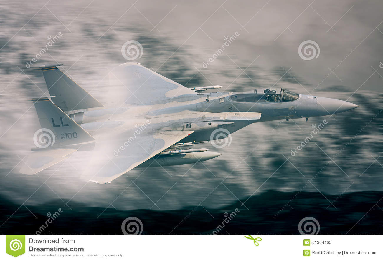 F15 Military Fighter Jet flying