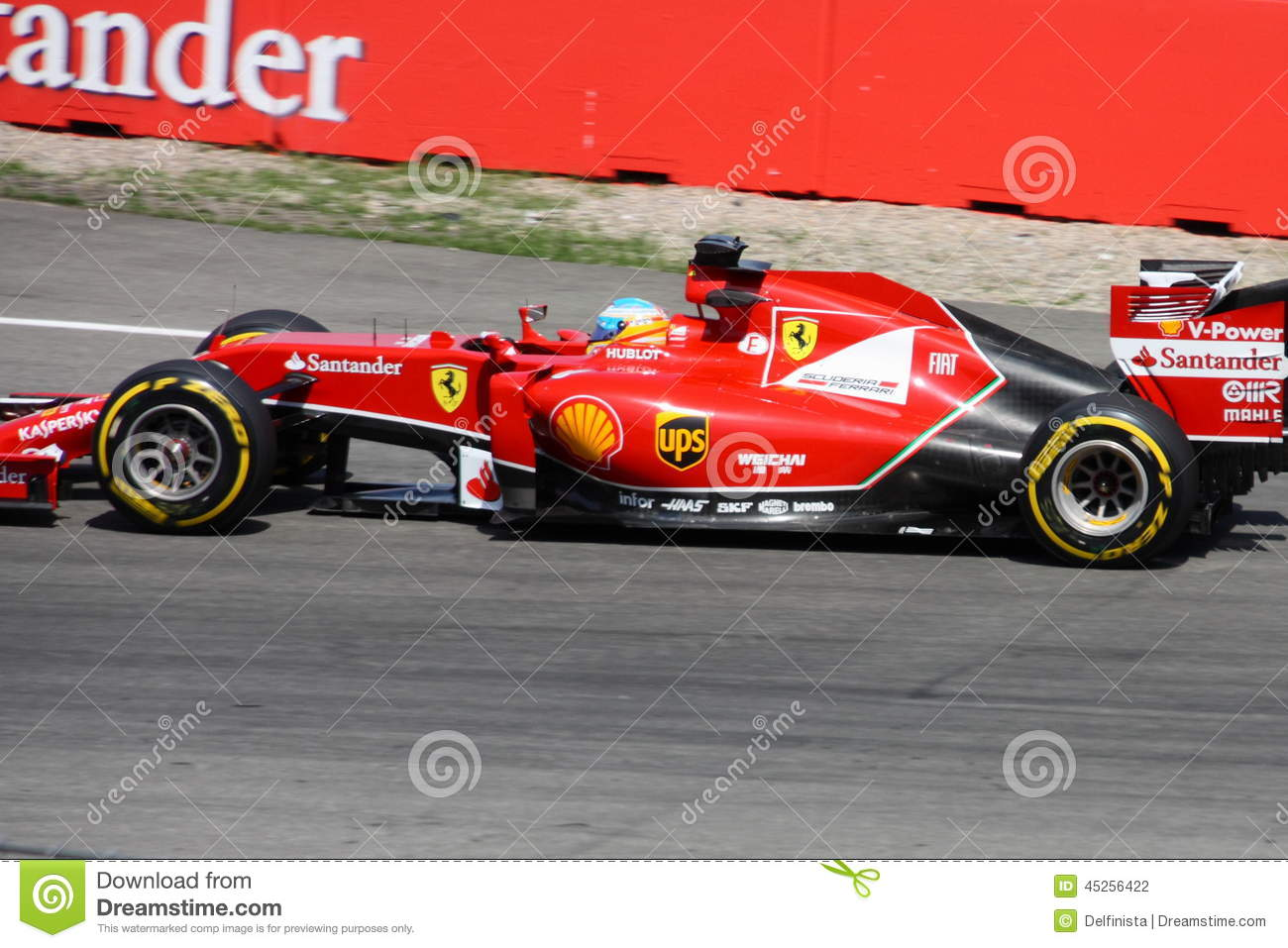 f1 photo voiture de ferrari de formule 1 fernando alonso photographie ditorial image. Black Bedroom Furniture Sets. Home Design Ideas